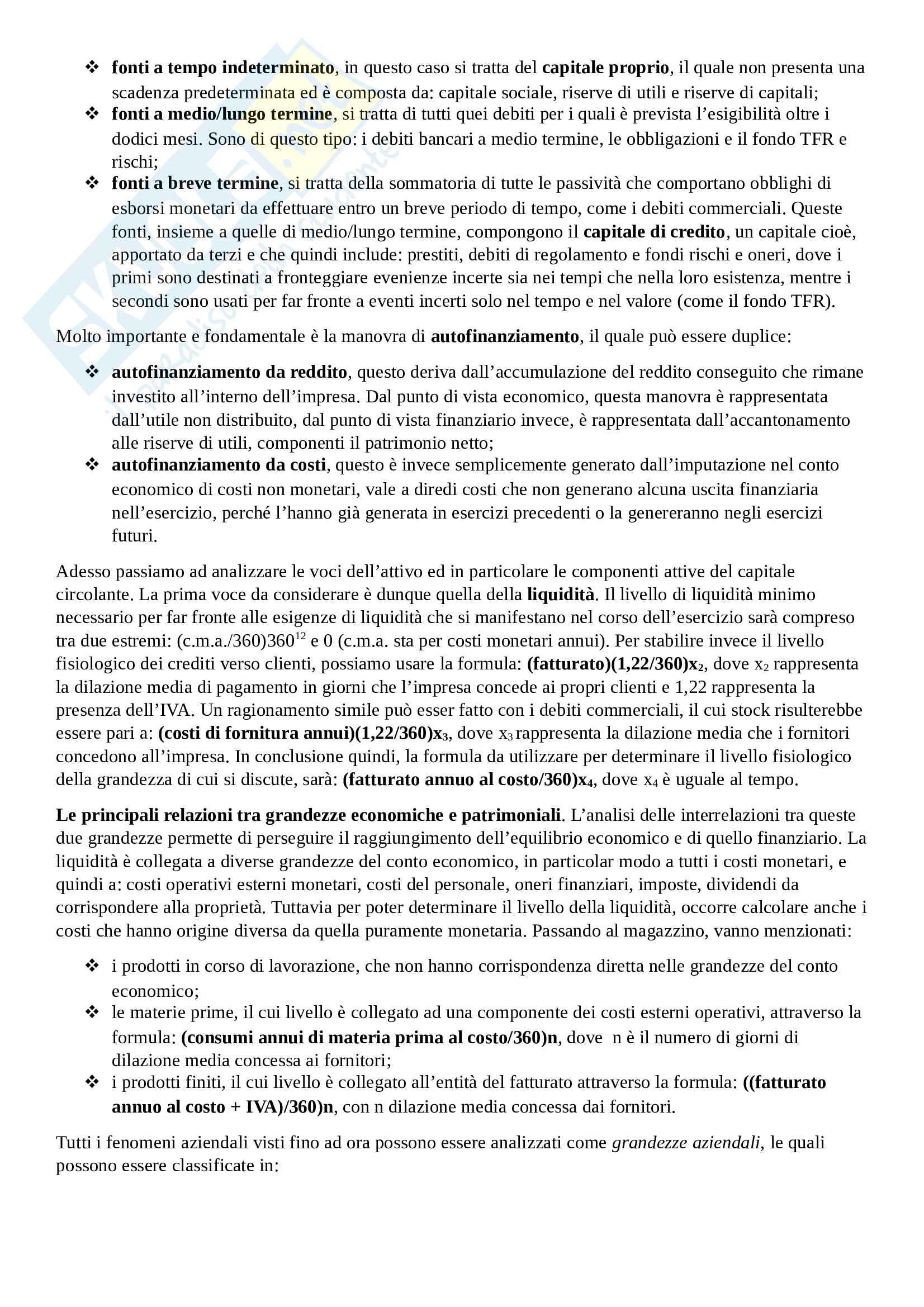 Economia e Gestione delle imprese Pag. 11