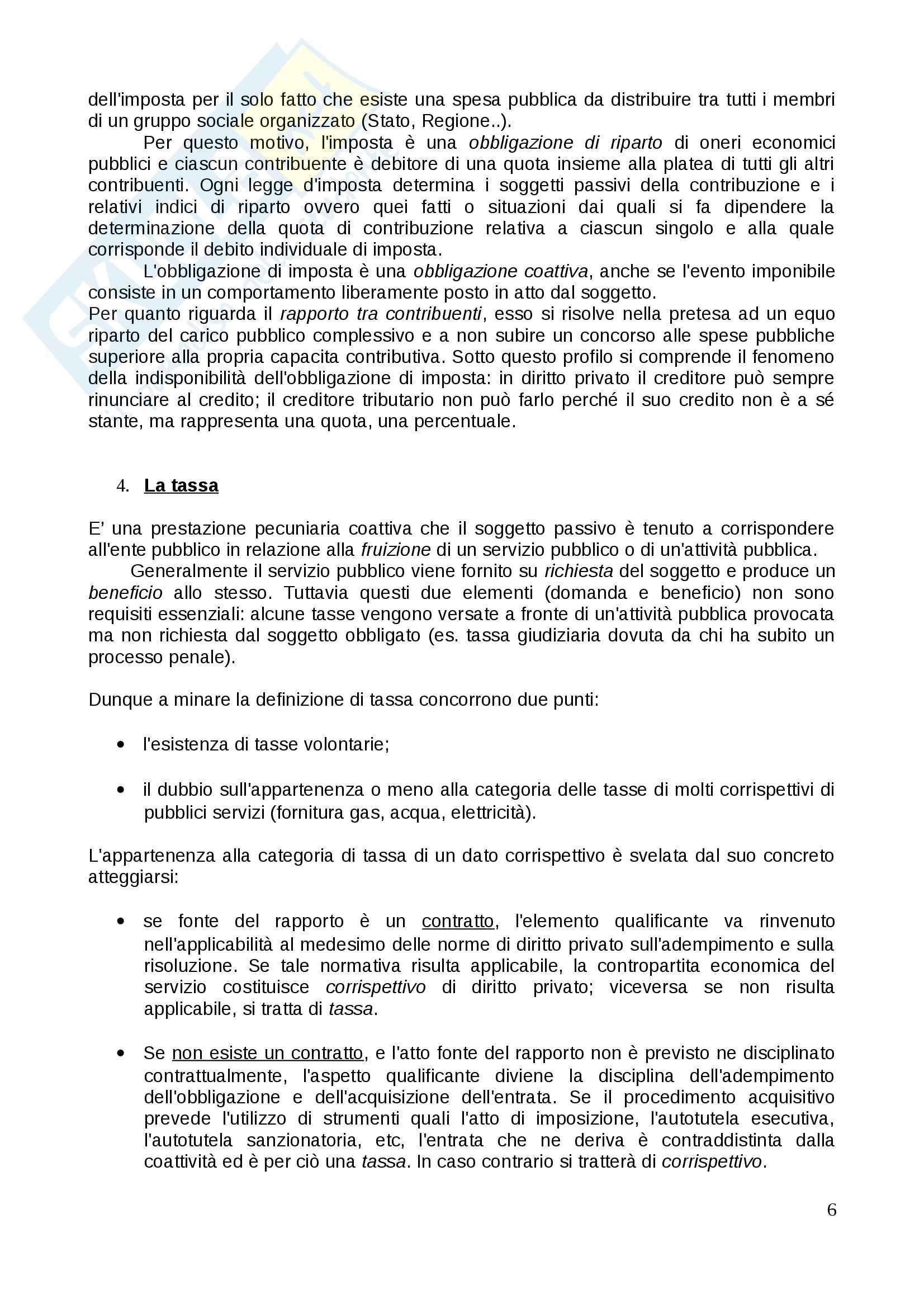 Riassunto esame Diritto Tributario, prof. Tassani, libro consigliato Corso Istituzionale di Diritto Tributario, Falsitta Pag. 6