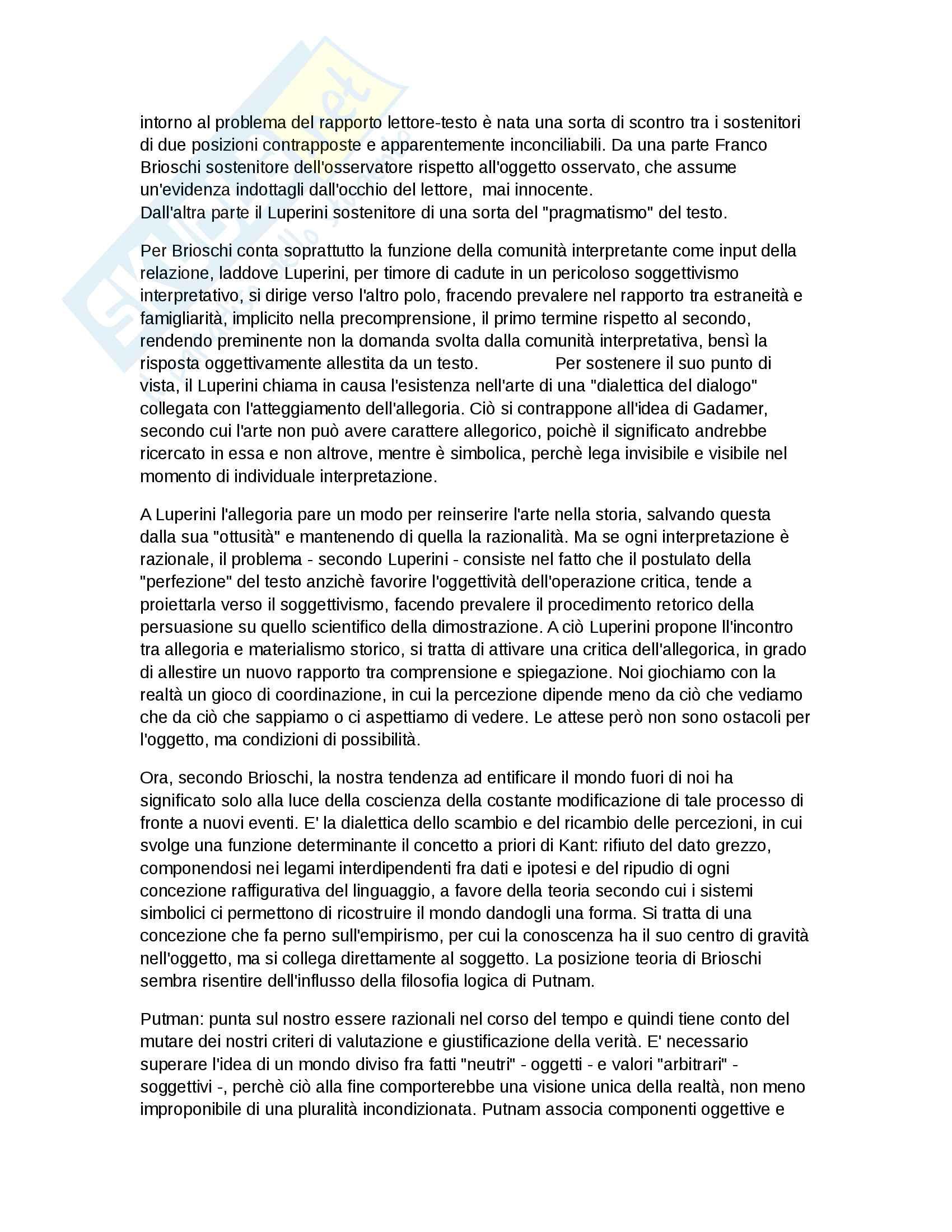 appunto A. Cavalli Letteratura italiana