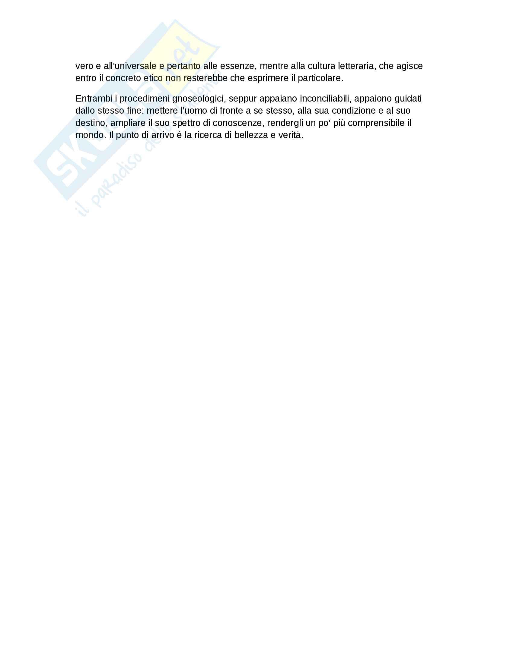 Riassunto esame letteratura, Prof Cavalli, libro consigliato Fuga dalla Critica, Cavalli Pag. 6