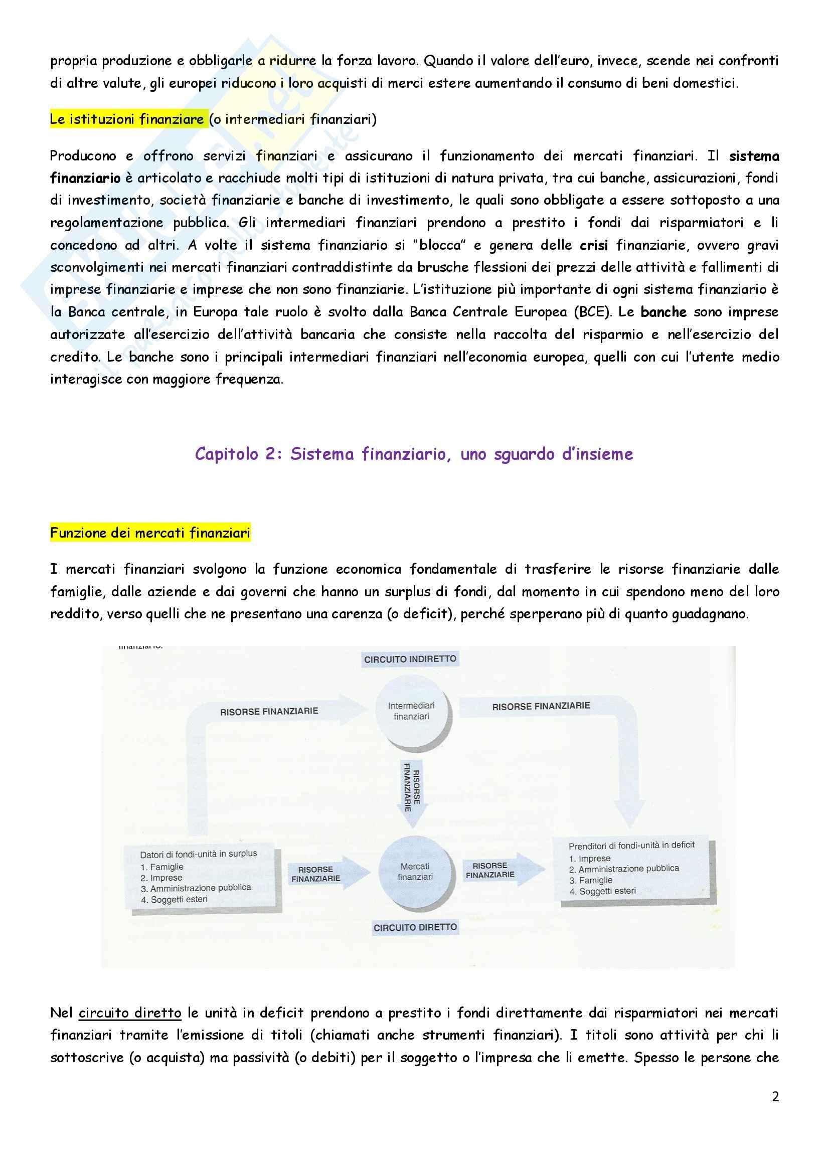 Riassunto esame Economia degli intermediari finanziari, prof. Pia, libro consigliato Istituzioni e Mercati finanziari, Mishkin, Eakins, Forestieri Pag. 2