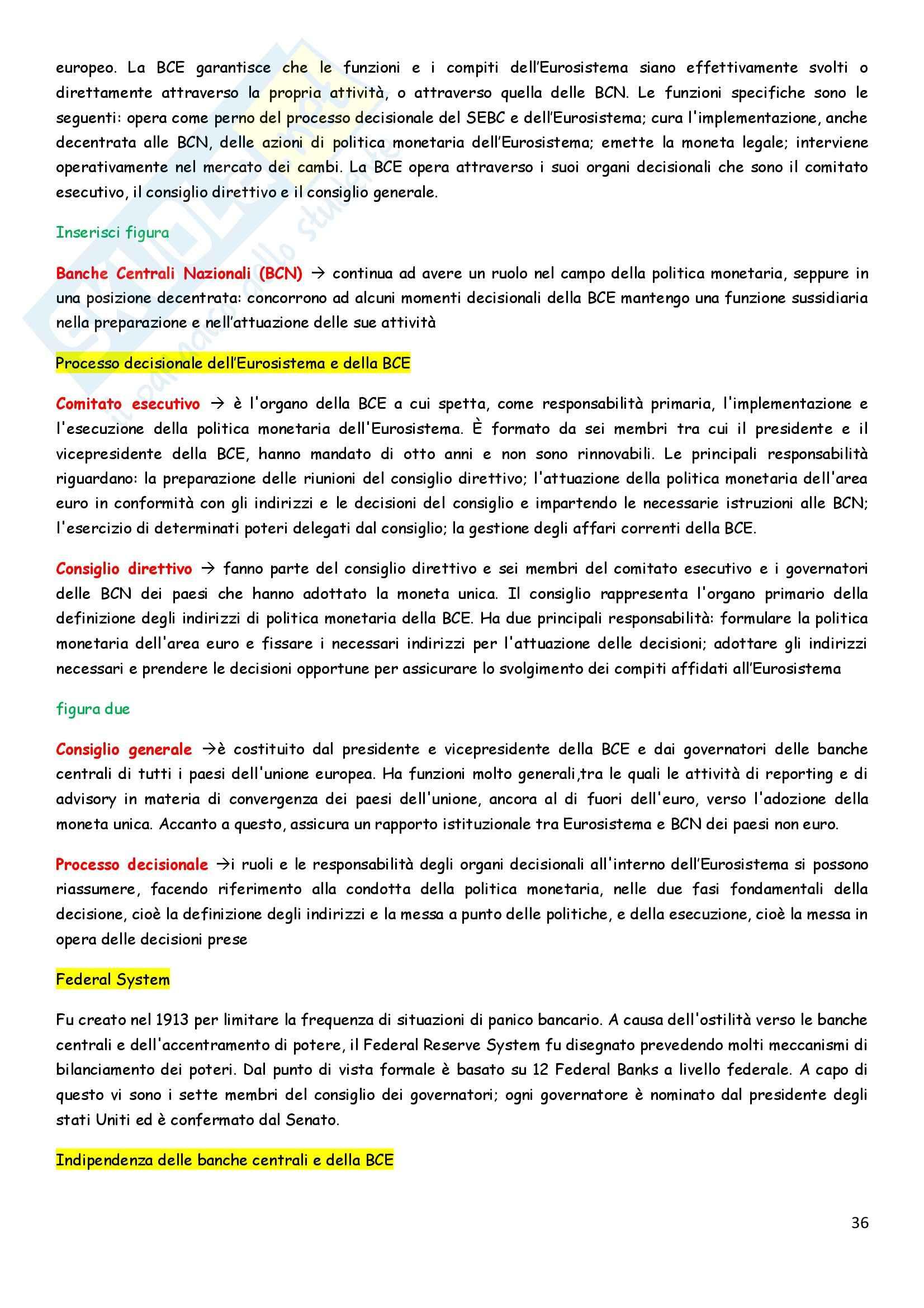 Riassunto esame Economia degli intermediari finanziari, prof. Pia, libro consigliato Istituzioni e Mercati finanziari, Mishkin, Eakins, Forestieri Pag. 36