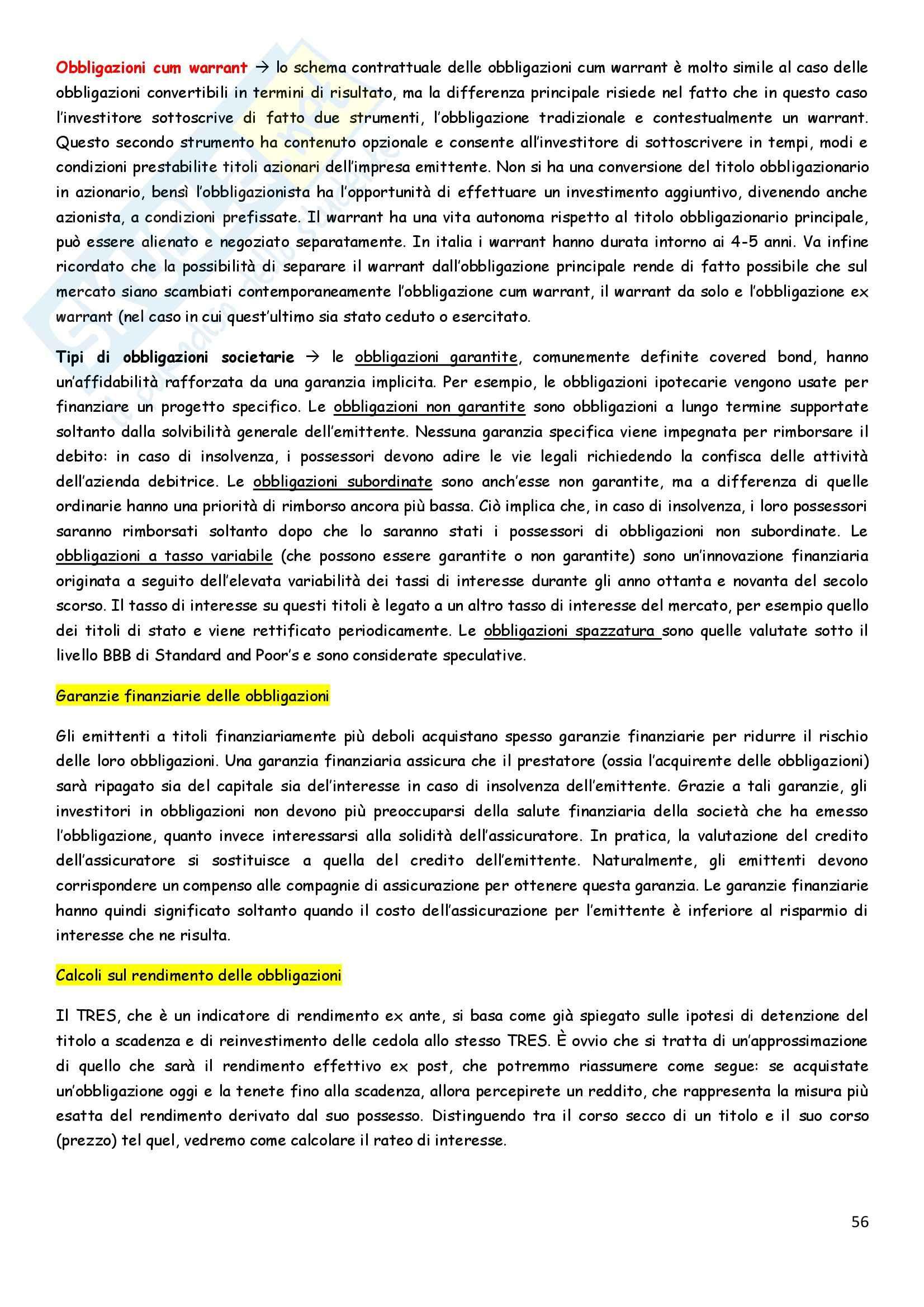 Riassunto esame Economia degli intermediari finanziari, prof. Pia, libro consigliato Istituzioni e Mercati finanziari, Mishkin, Eakins, Forestieri Pag. 56