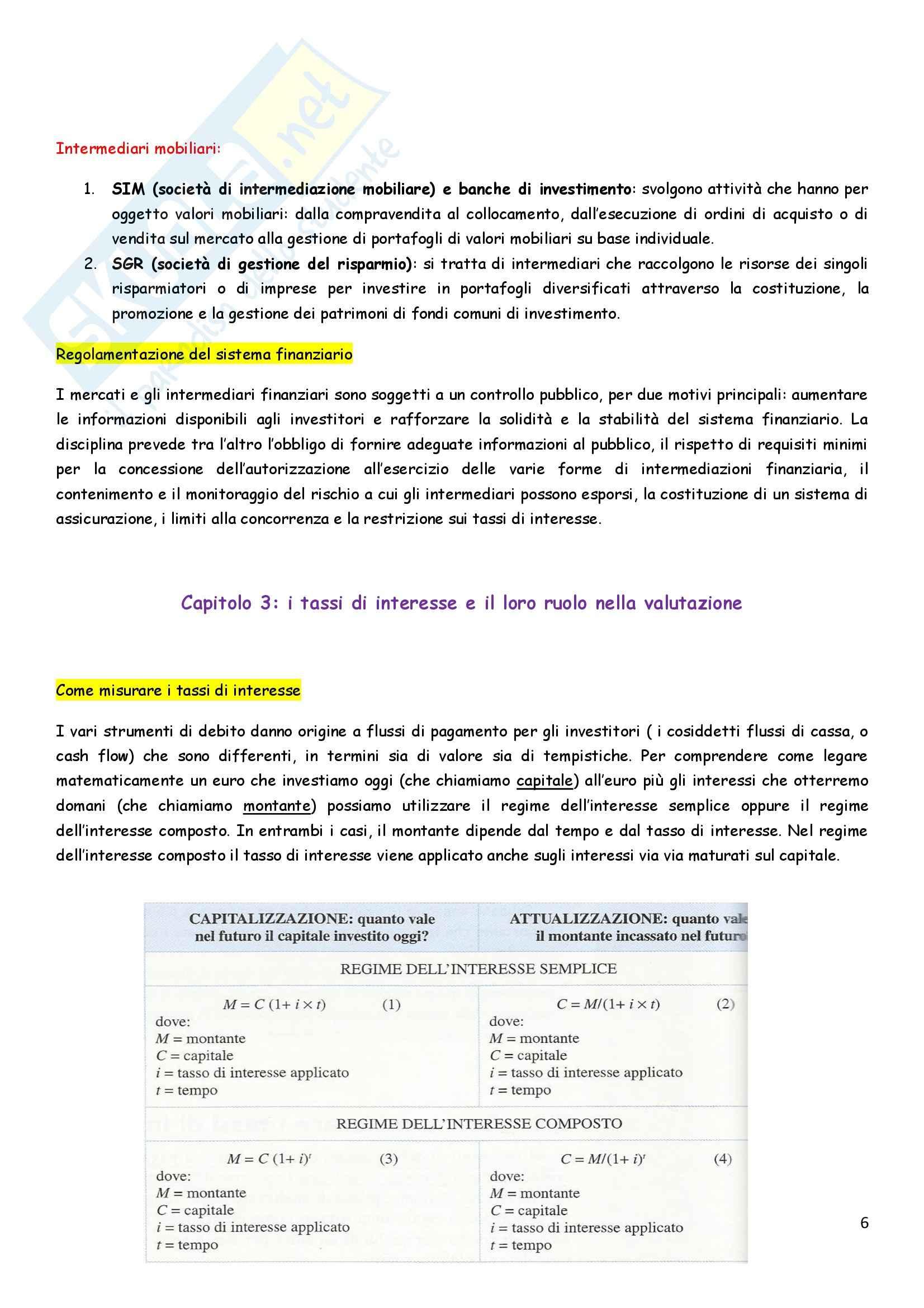 Riassunto esame Economia degli intermediari finanziari, prof. Pia, libro consigliato Istituzioni e Mercati finanziari, Mishkin, Eakins, Forestieri Pag. 6