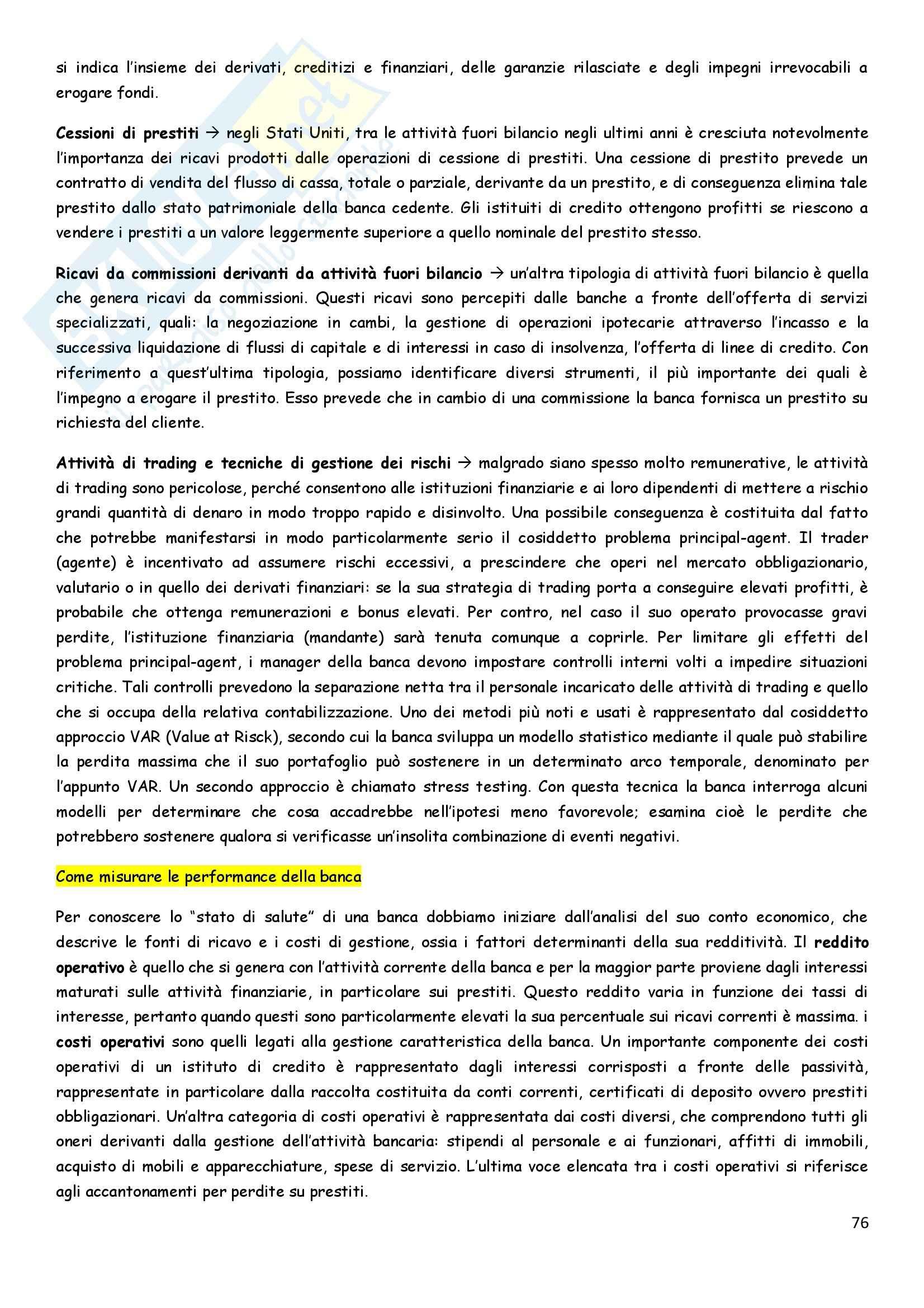 Riassunto esame Economia degli intermediari finanziari, prof. Pia, libro consigliato Istituzioni e Mercati finanziari, Mishkin, Eakins, Forestieri Pag. 76