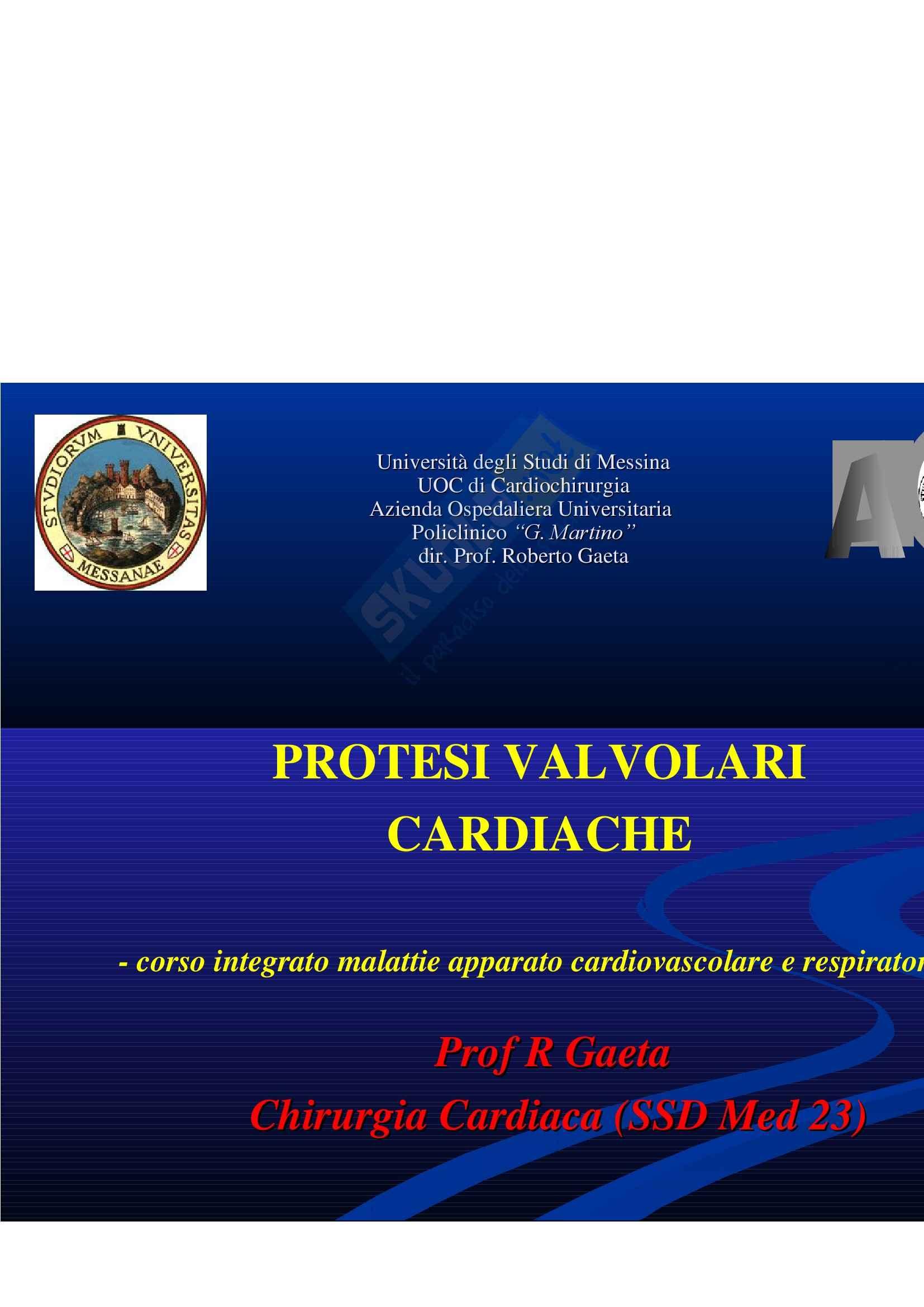Cardiologia - protesi valvolari cardiache