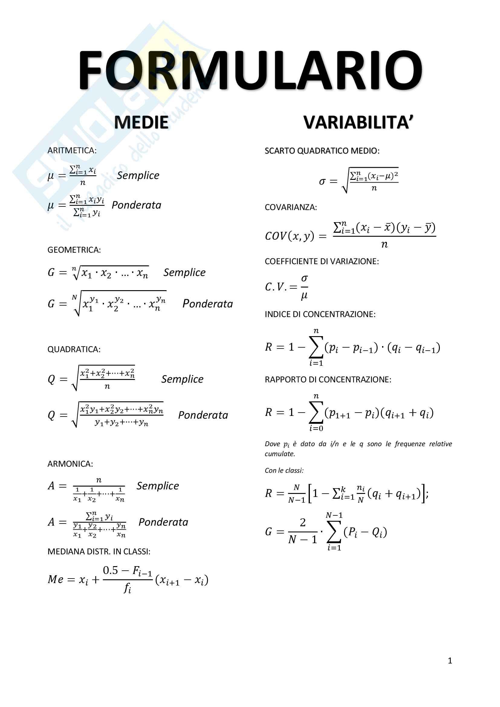 formulario di statistica 21