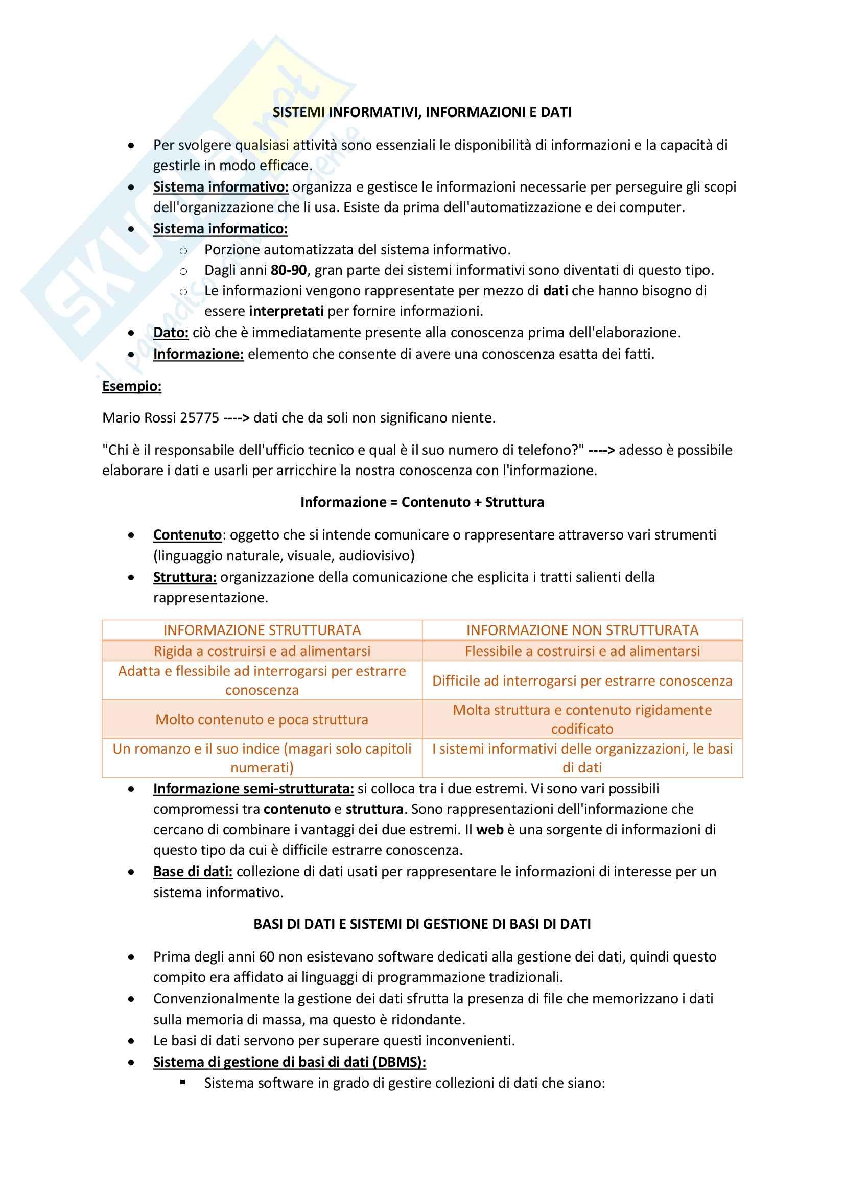 Appunti di Basi di Dati con Esercizi Svolti, Monreale - Rosone