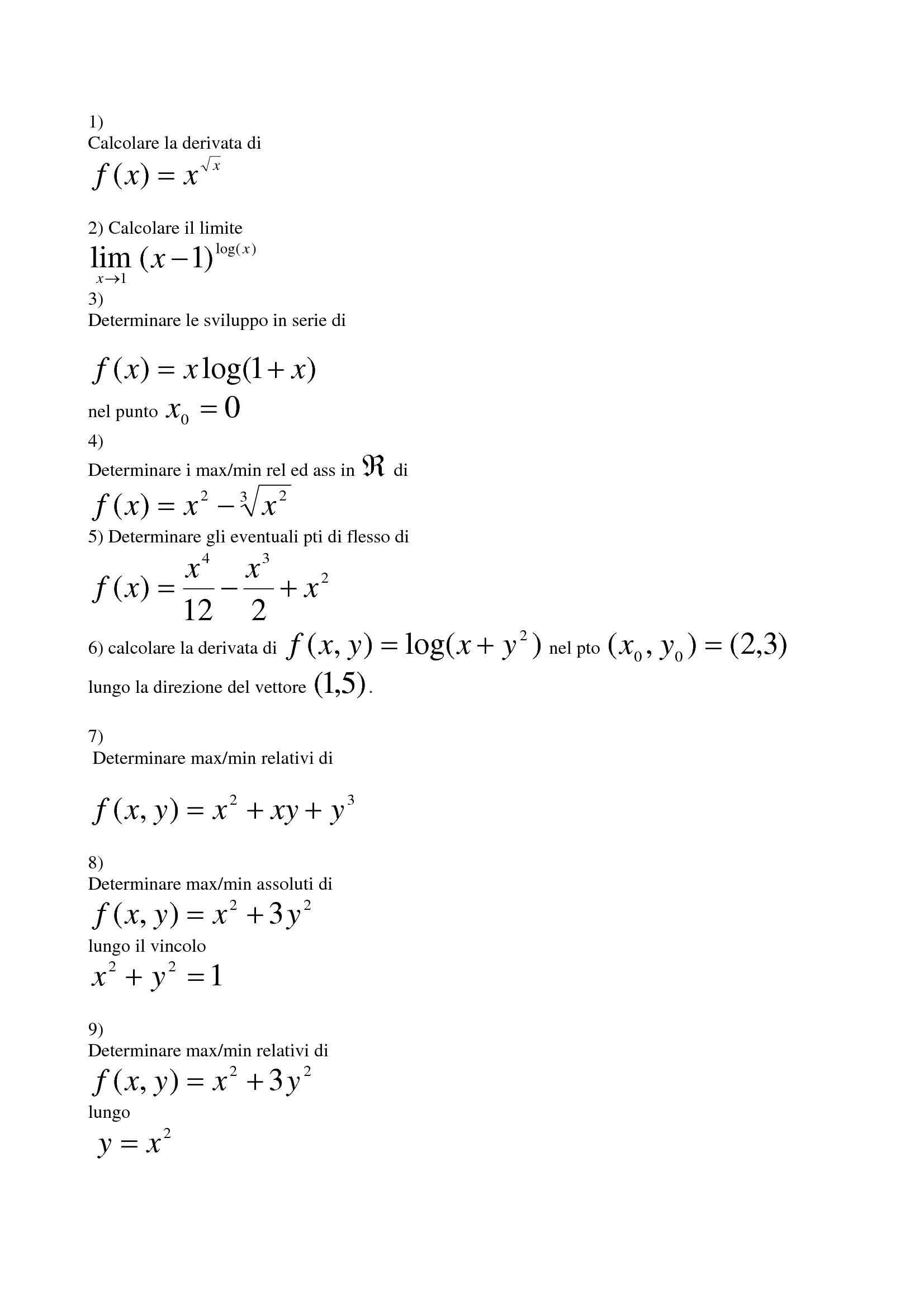 Matematica Generale - Derivate, integrali, funzione logaritmica