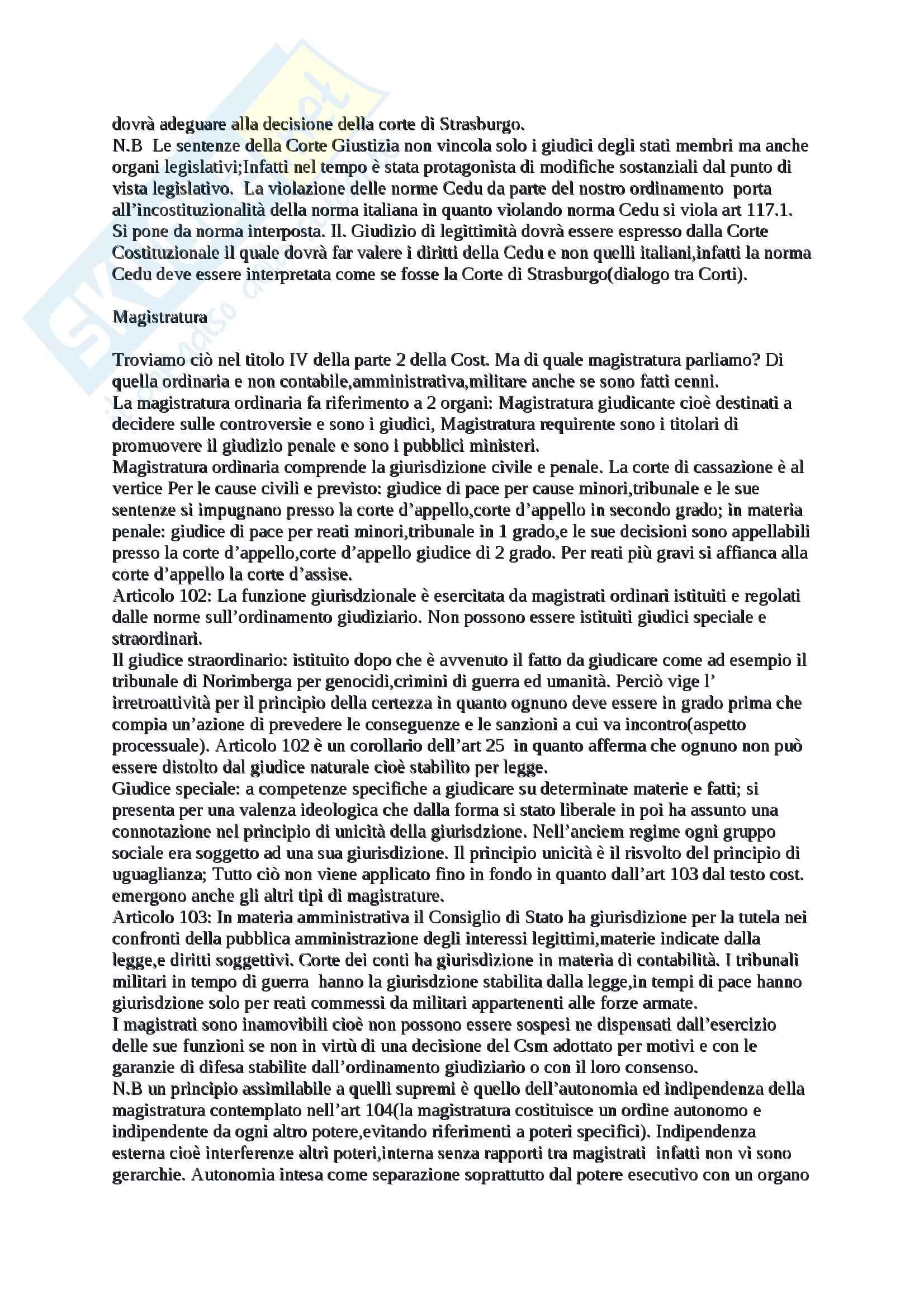 Organi costituzionali,sovranità popolare e contenuti di base, Diritto pubblico Pag. 16
