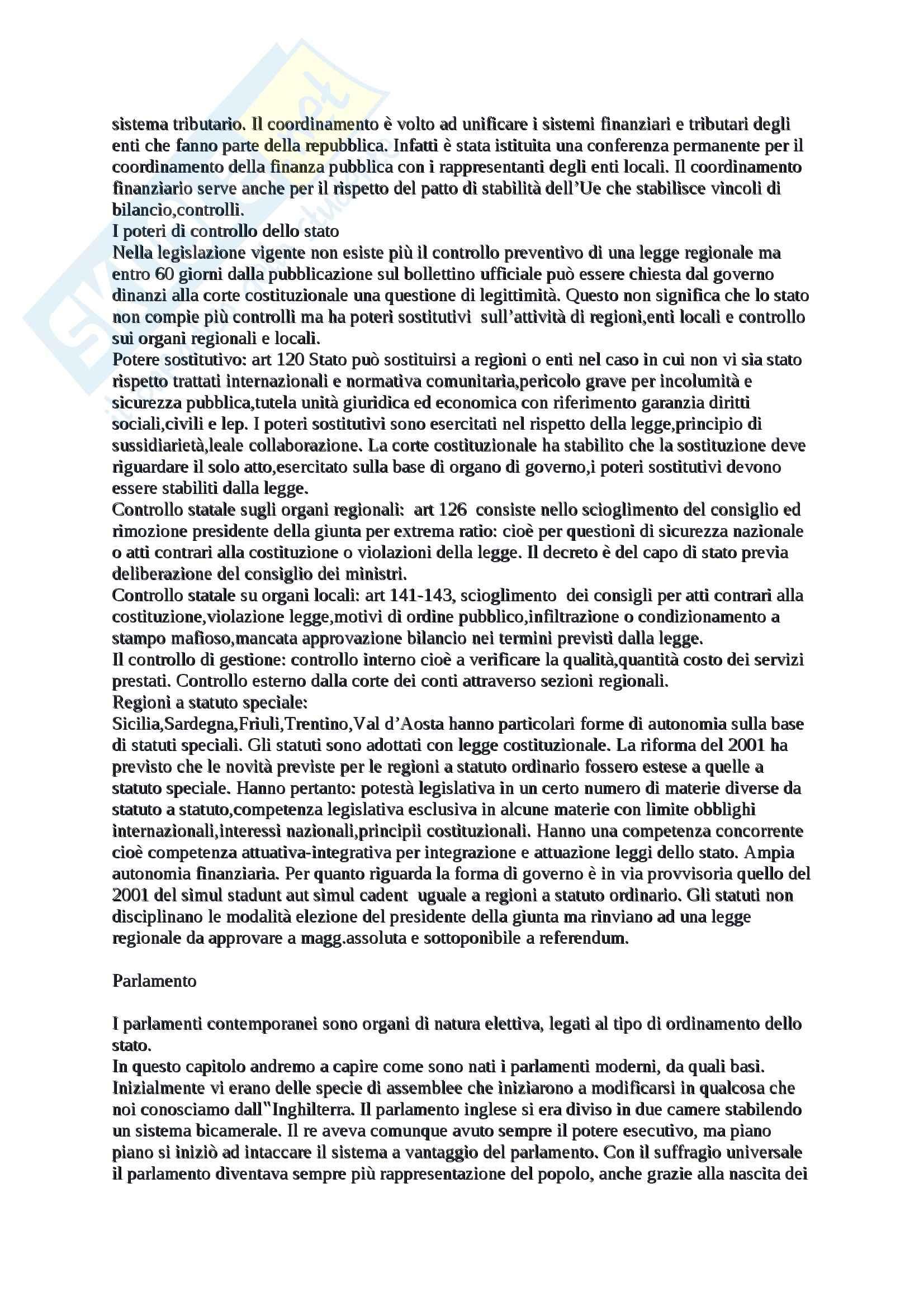 Organi costituzionali,sovranità popolare e contenuti di base, Diritto pubblico Pag. 21