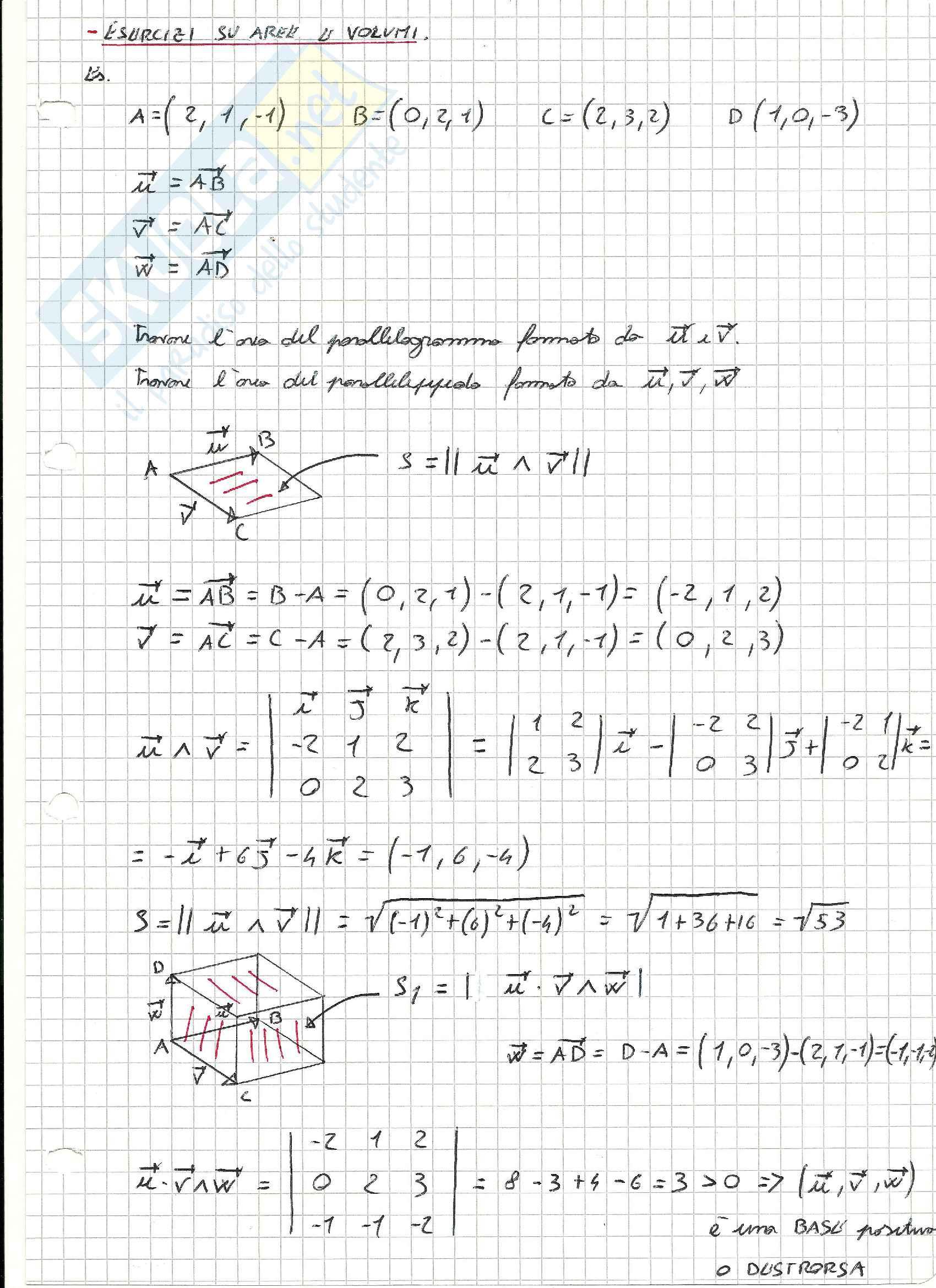 Esercizi svolti di Geometria lineare e analitica