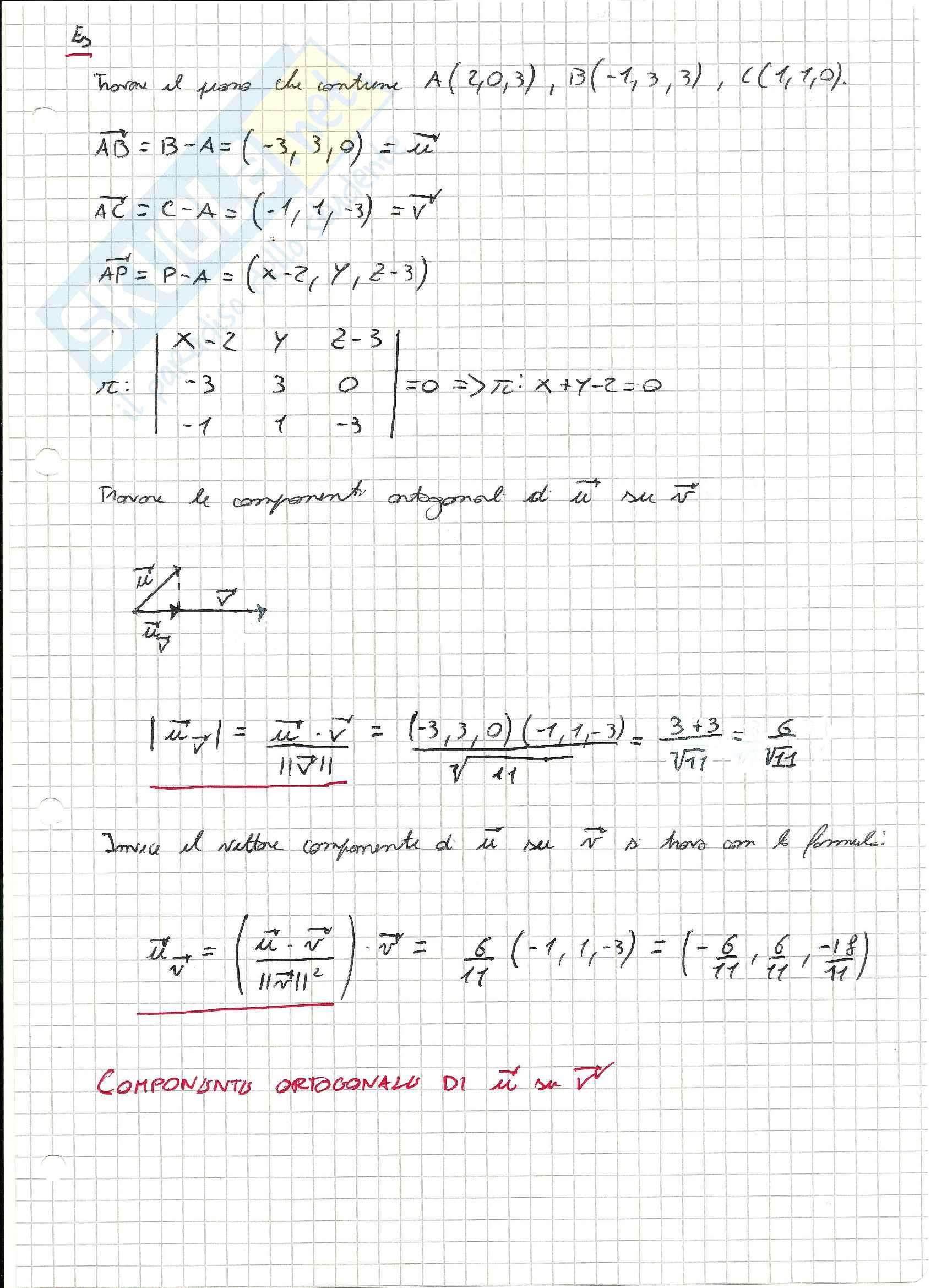 Esercizi svolti di Geometria lineare e analitica Pag. 6
