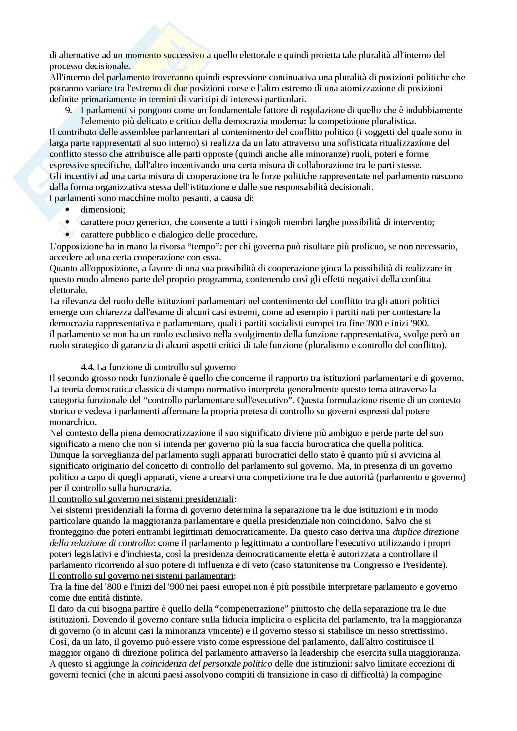 Riassunto esame Scienza politica, prof. Nevola, libro consigliato Scienza politica, Cotta, Della Porta, Morlino Pag. 71