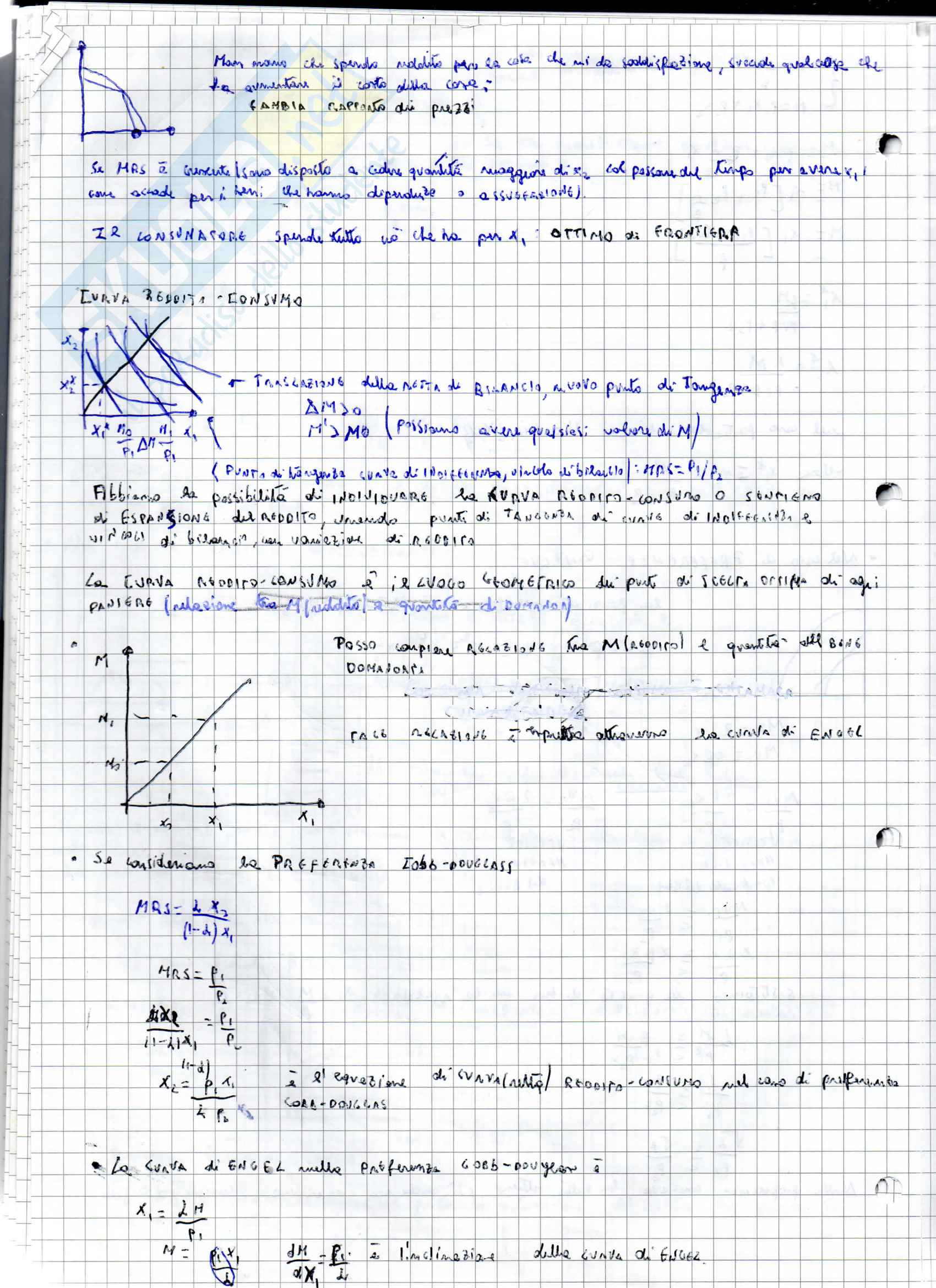 Appunti di Teoria del Consumatore per l'esame di Microeconomia, prof. Martina Pag. 36