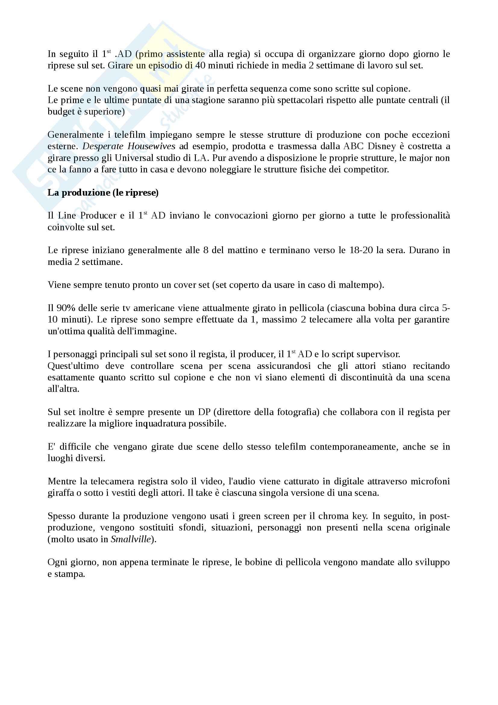 Riassunto esame Teorie e Tecniche della Fiction Radiotelevisiva, prof. Cardini, libro consigliato Le Serie Sono Serie, Cardini Pag. 6