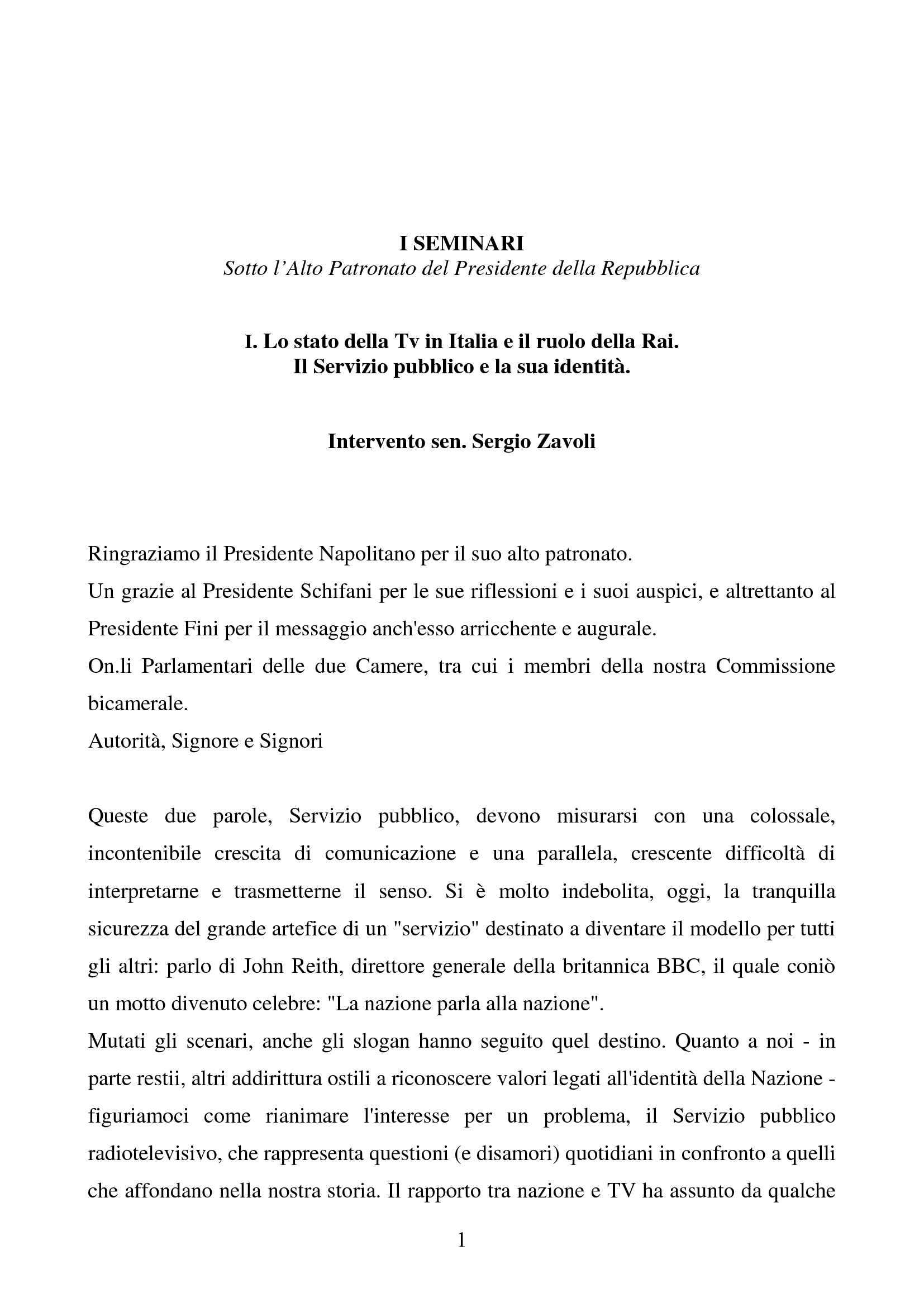 Tv in Italia - Servizio Pubblico