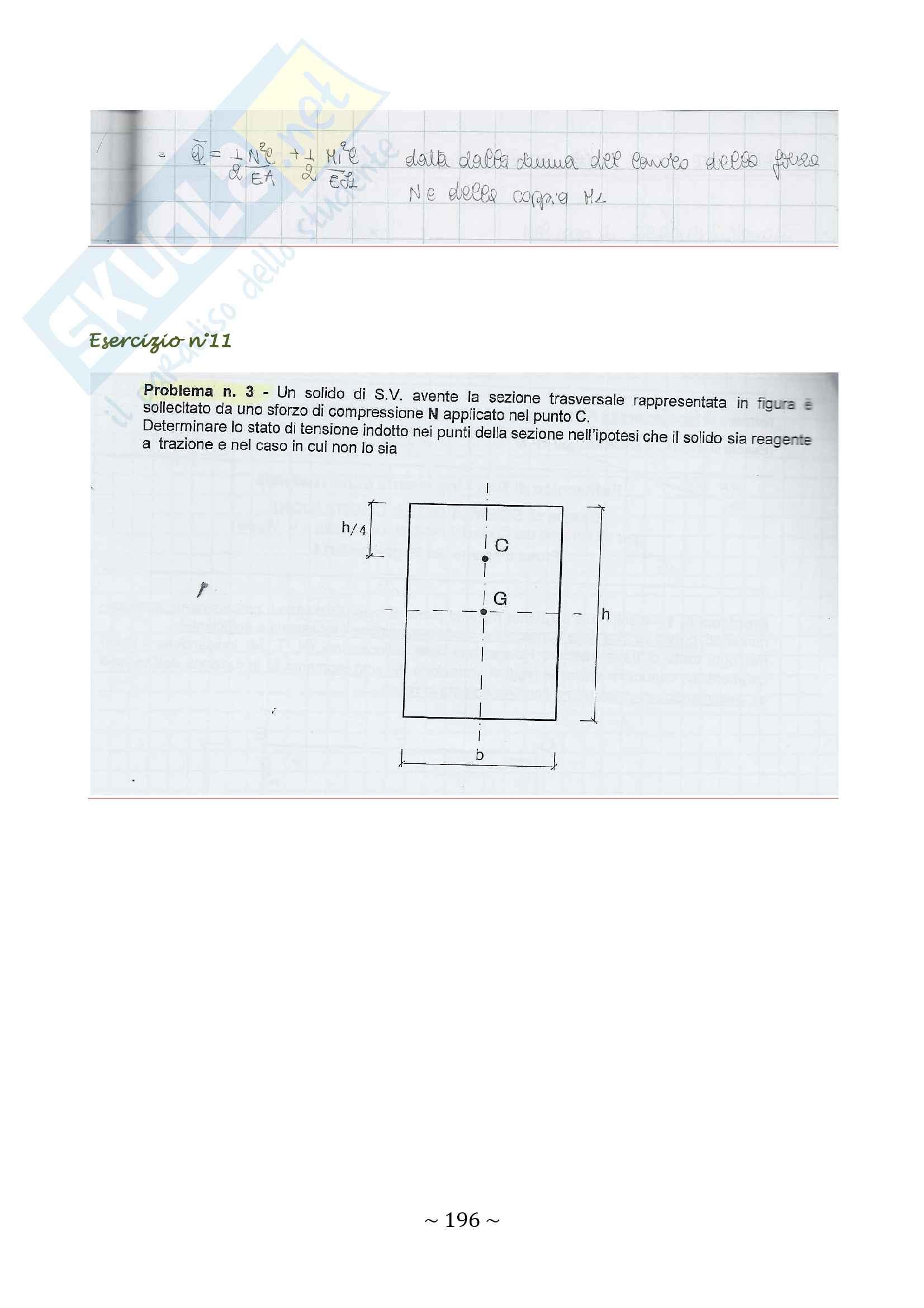 35 esercizi svolti di scienza delle costruzioni_sezioni del solido di Saint Venant Pag. 21