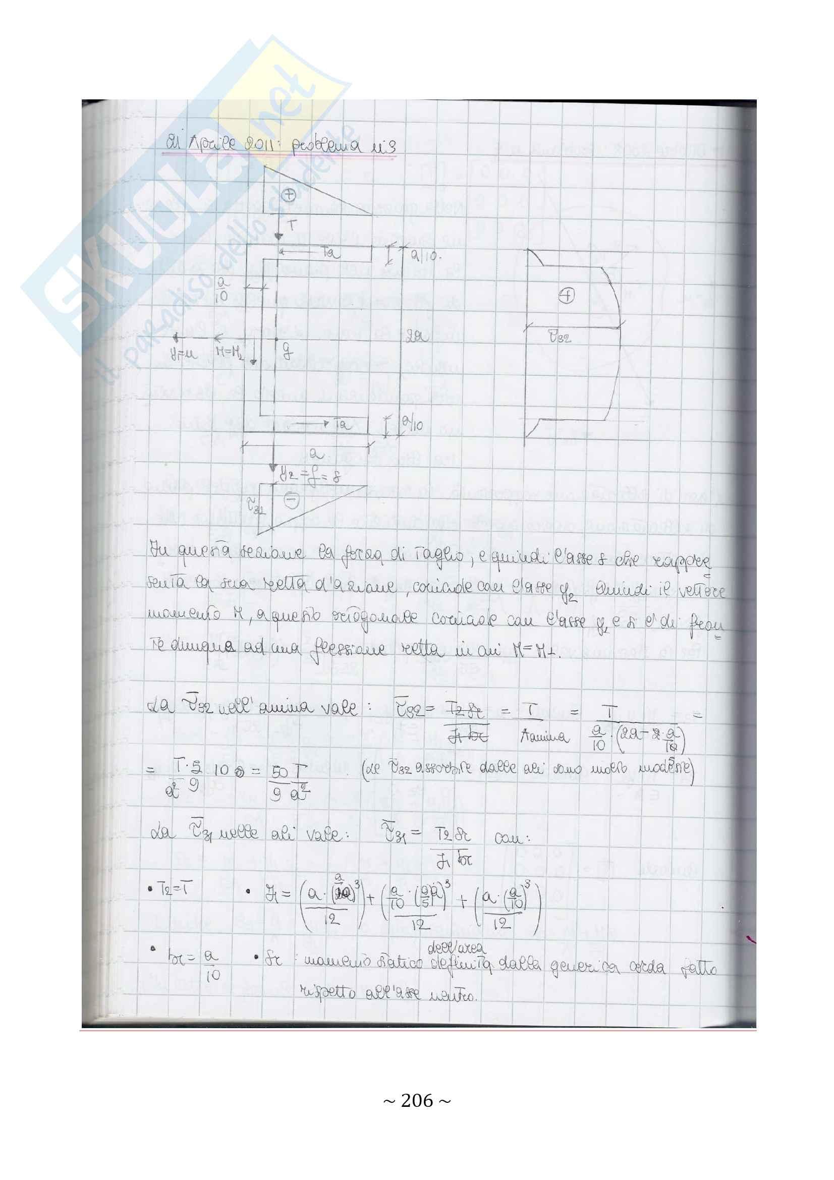 35 esercizi svolti di scienza delle costruzioni_sezioni del solido di Saint Venant Pag. 31