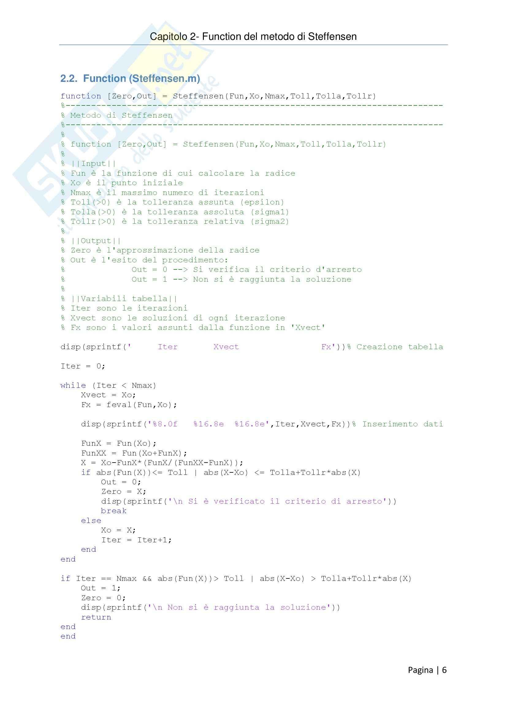 Metodi Numerici per l'Ingegneria - Relazione Pag. 6