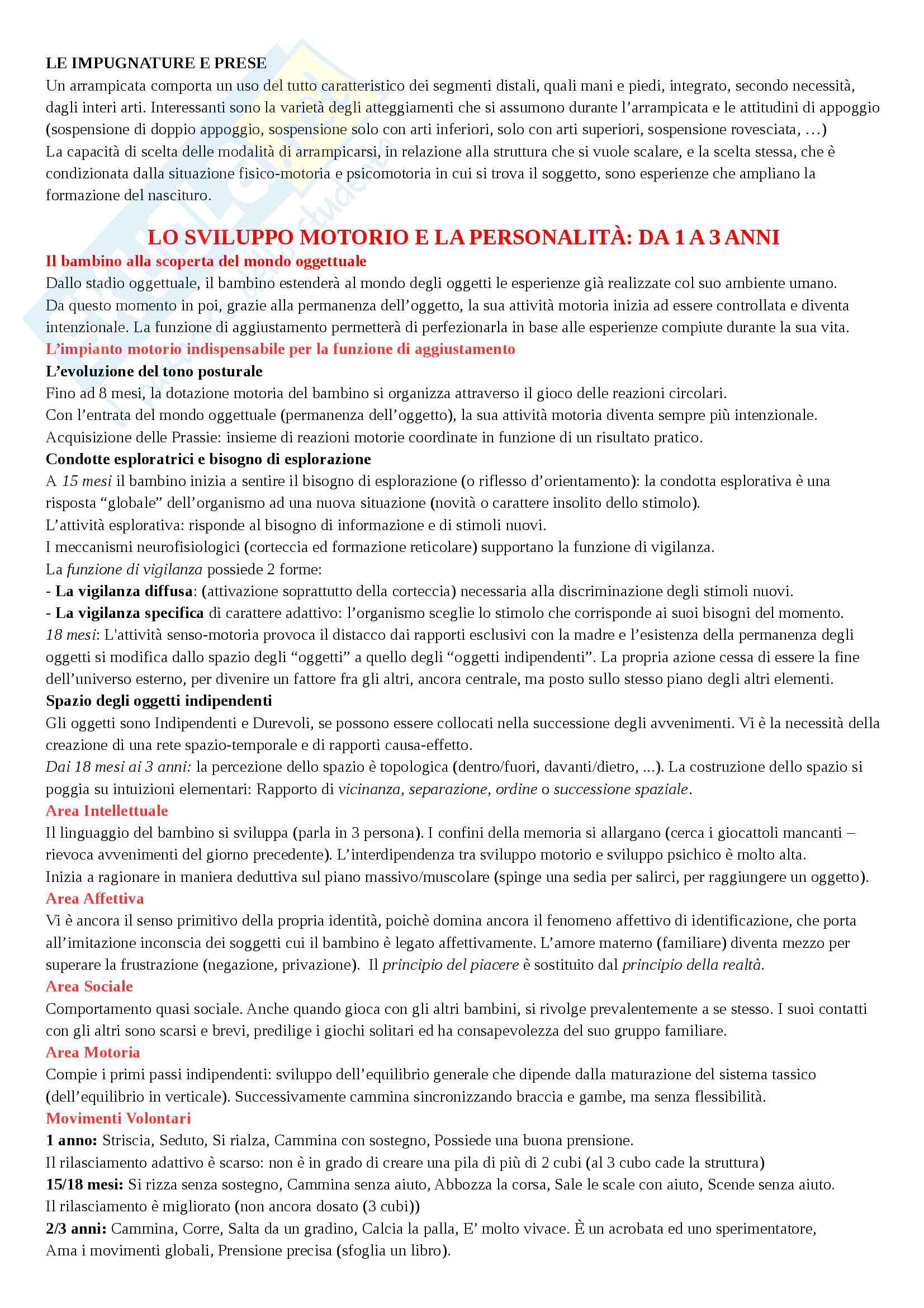 Teoria e Metodologia del Movimento Umano Pag. 6