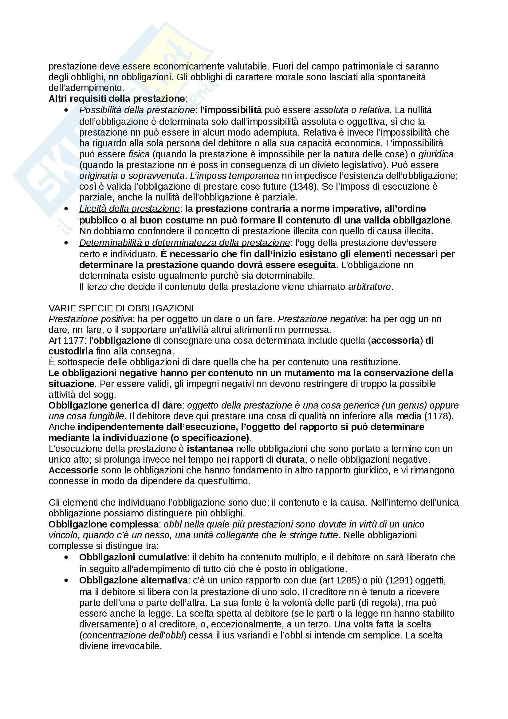 Riassunto esame diritto, prof. Troiano, libro consigliato Diritto privato, Trabucchi Pag. 81