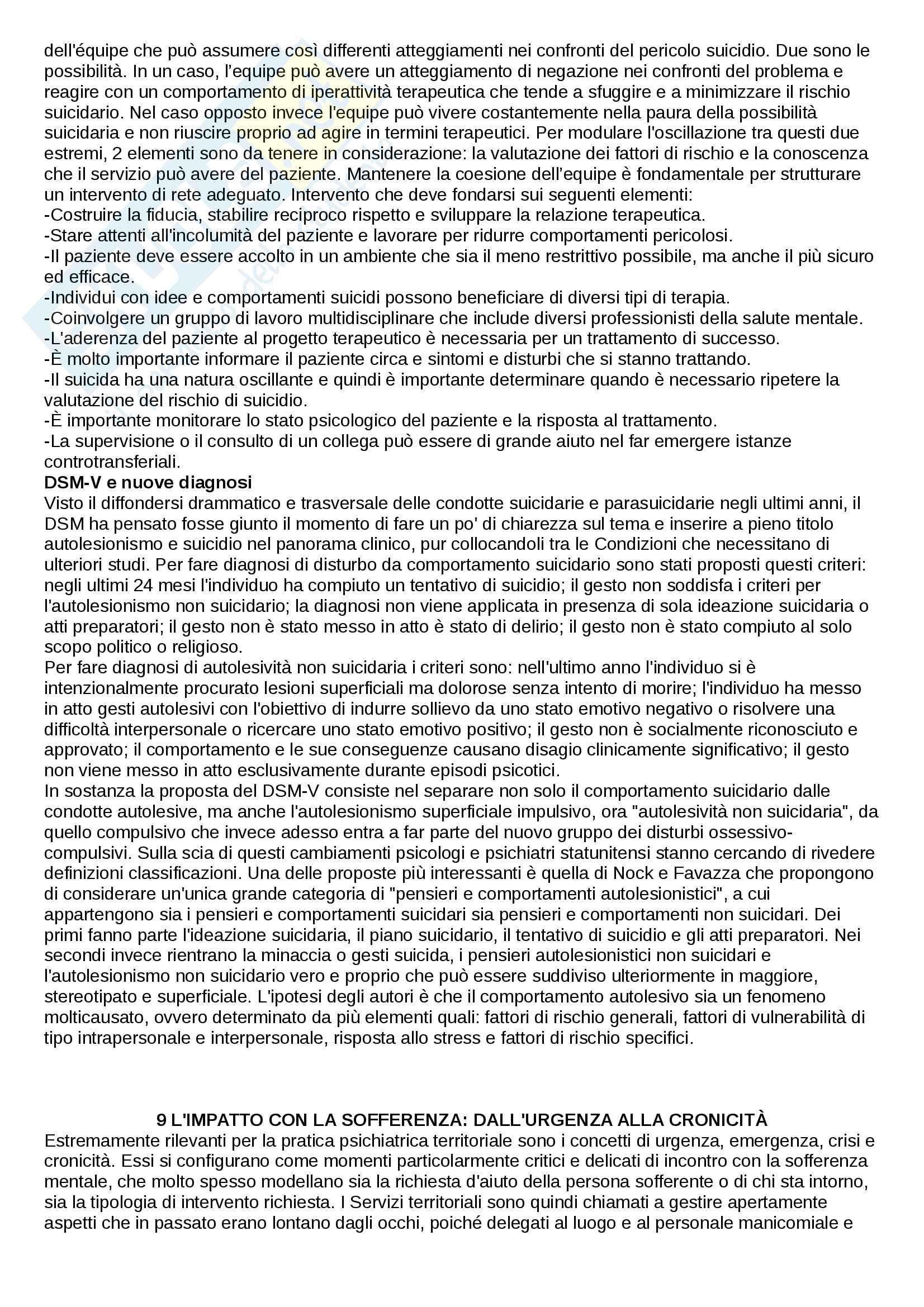 Riassunto esame di Psicologia clinica nei servizi psichiatrici, prof. Rossi Monti, libro consigliato Manuale di psichiatria per psicologi Pag. 36