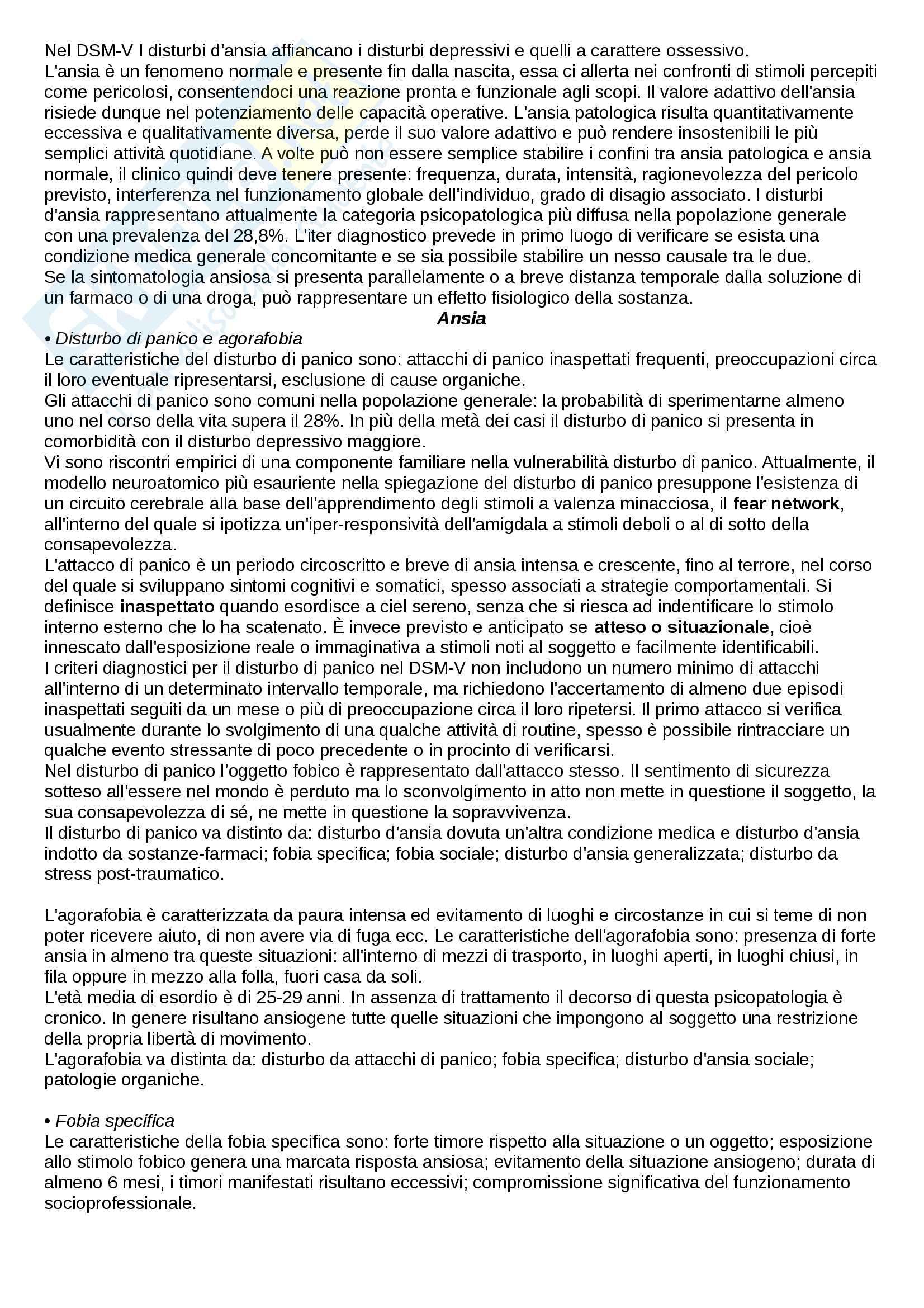 Riassunto esame di Psicologia clinica nei servizi psichiatrici, prof. Rossi Monti, libro consigliato Manuale di psichiatria per psicologi Pag. 6
