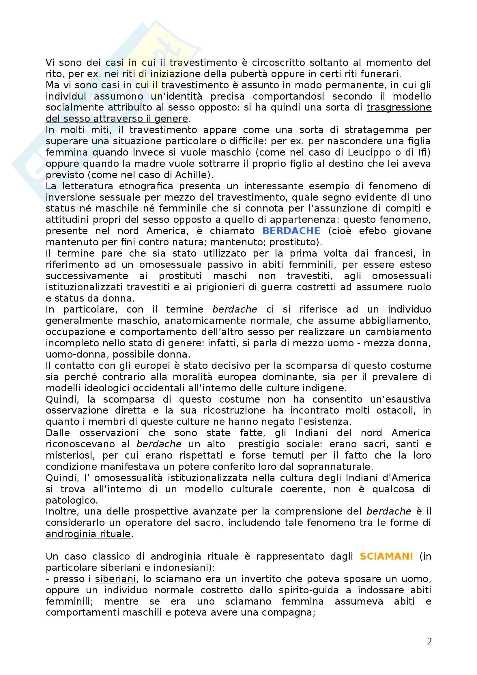 Riassunto esame Antropologia Culturale, prof. D'Agostino, libro consigliato Sesso e Genere, Ortner Pag. 2