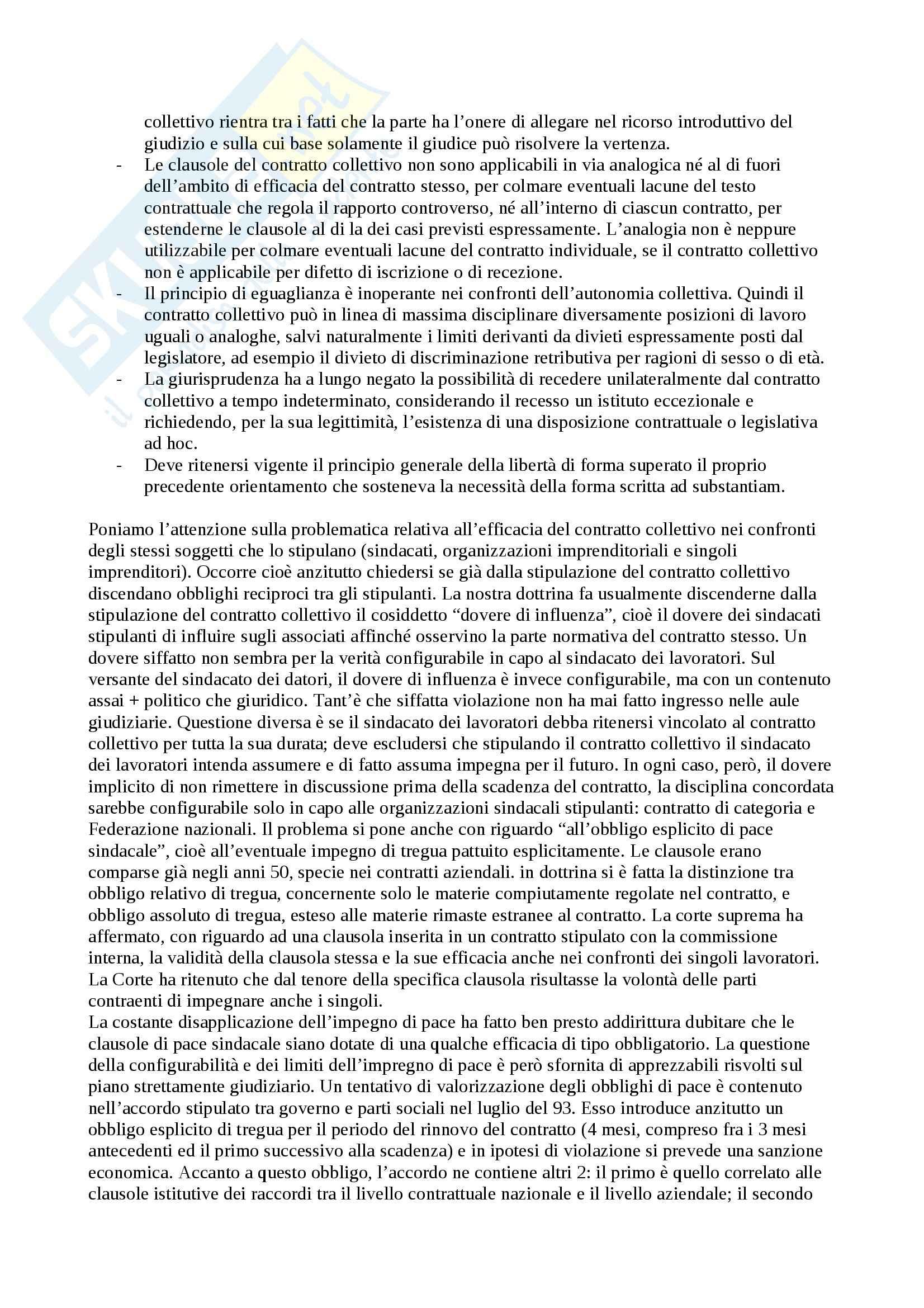 Diritto del lavoro - Appunti Pag. 91