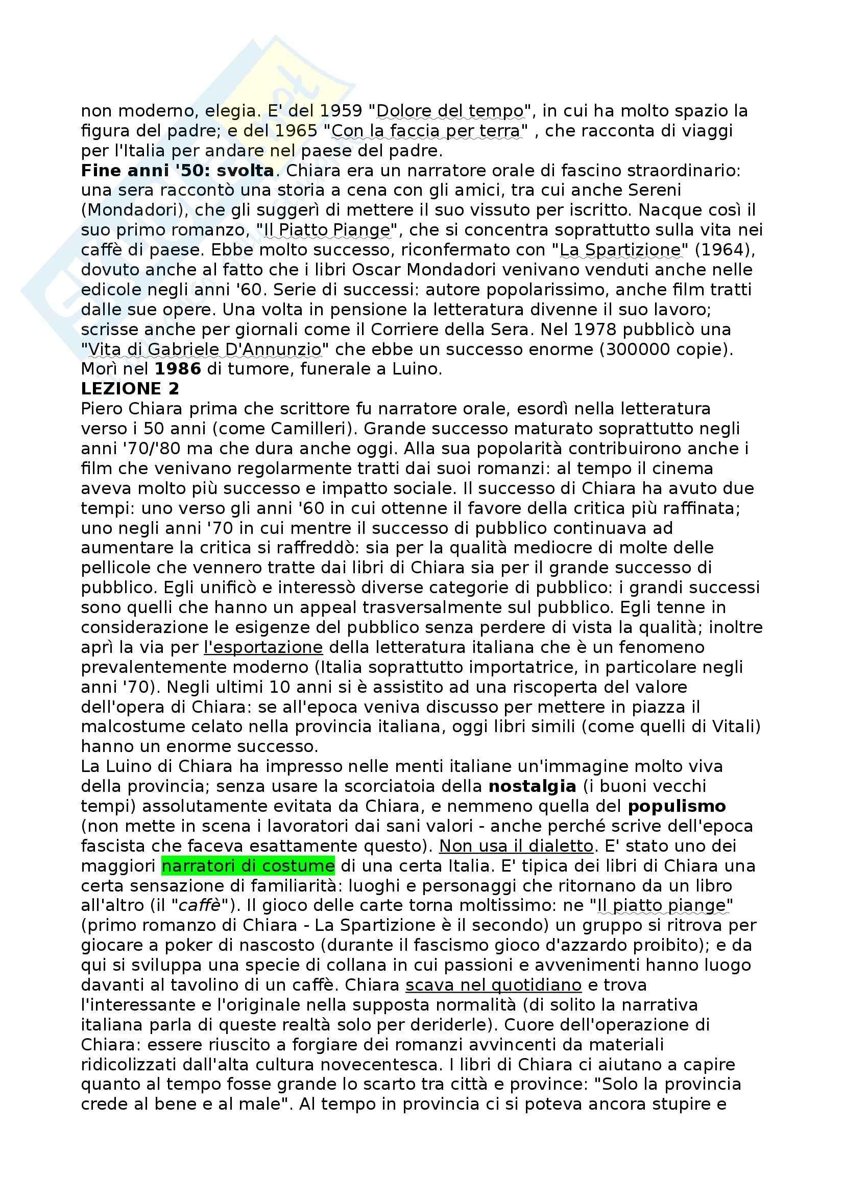La Spartizione, Chiara - Riassunto commentato, prof. Novelli Pag. 2