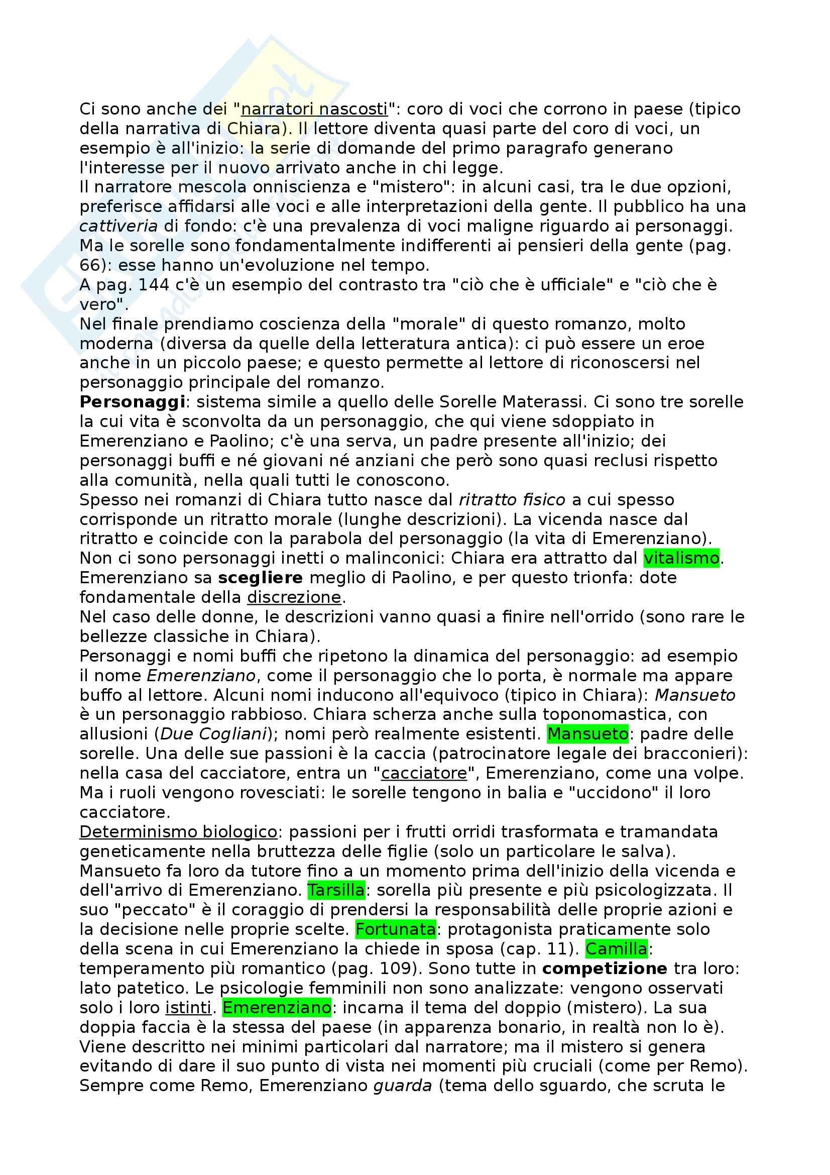 La Spartizione, Chiara - Riassunto commentato, prof. Novelli Pag. 6