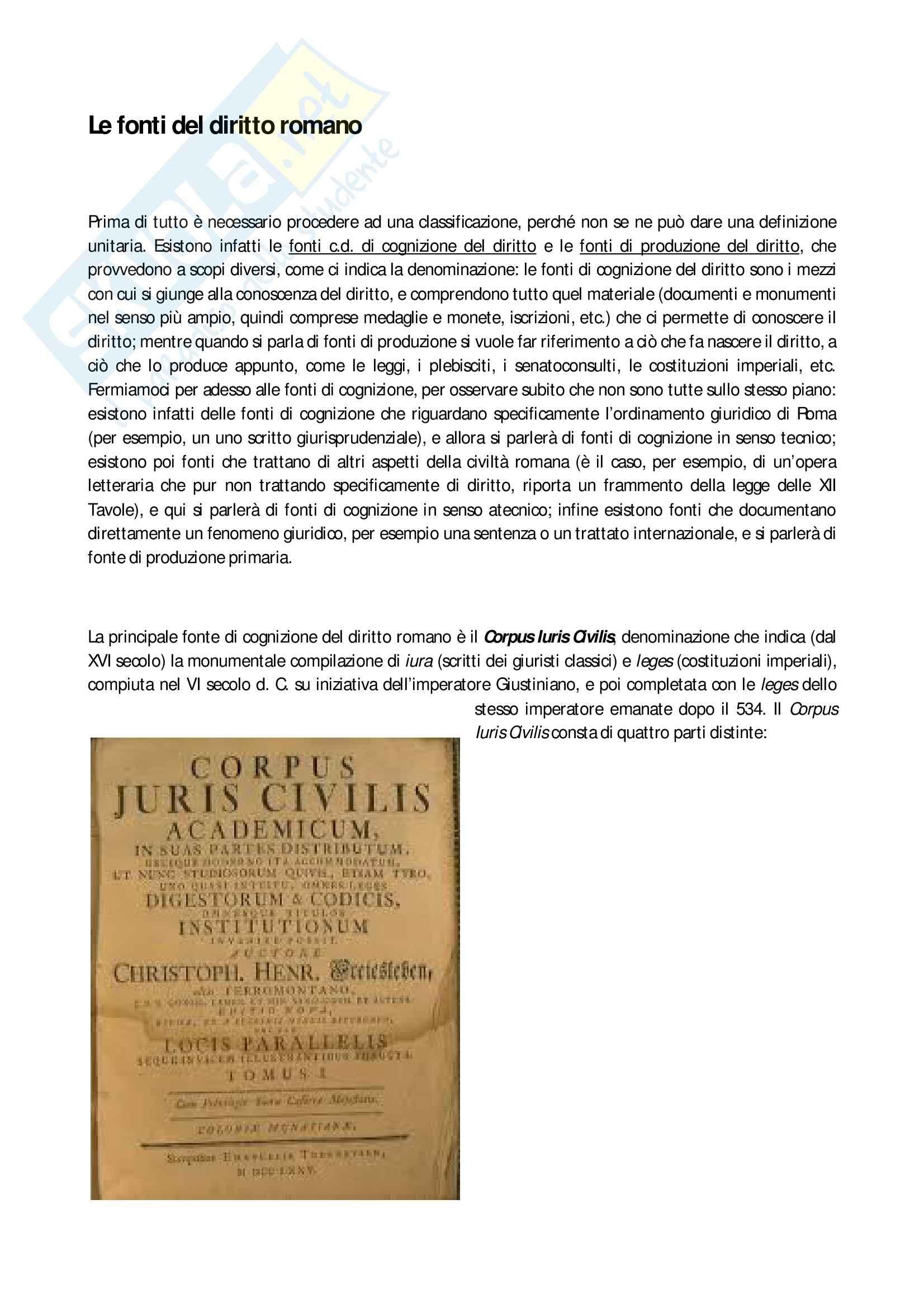Fonti del diritto romano, Storia del diritto romano