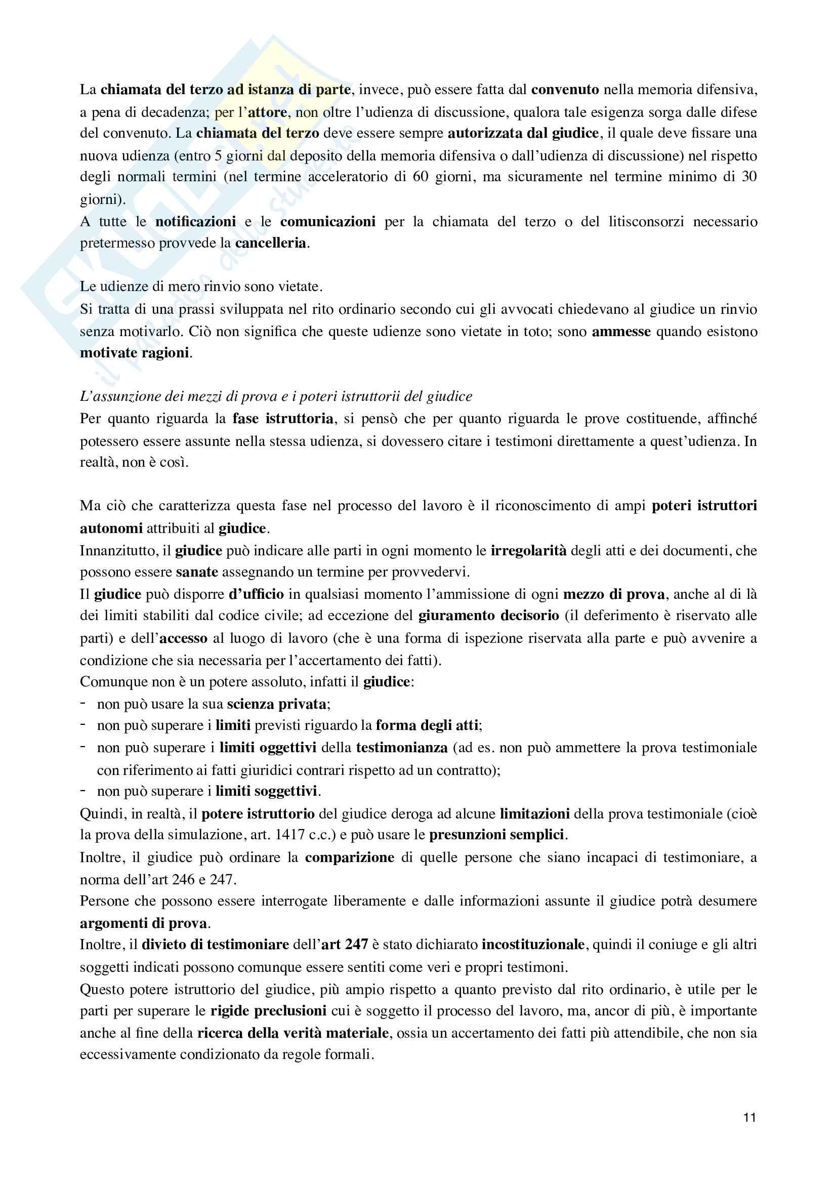 Riassunto esame Dritto processuale civile, prof. Damiani, libro consigliato Istituzioni di diritto processuale civile, vol.3 di Balena Pag. 11