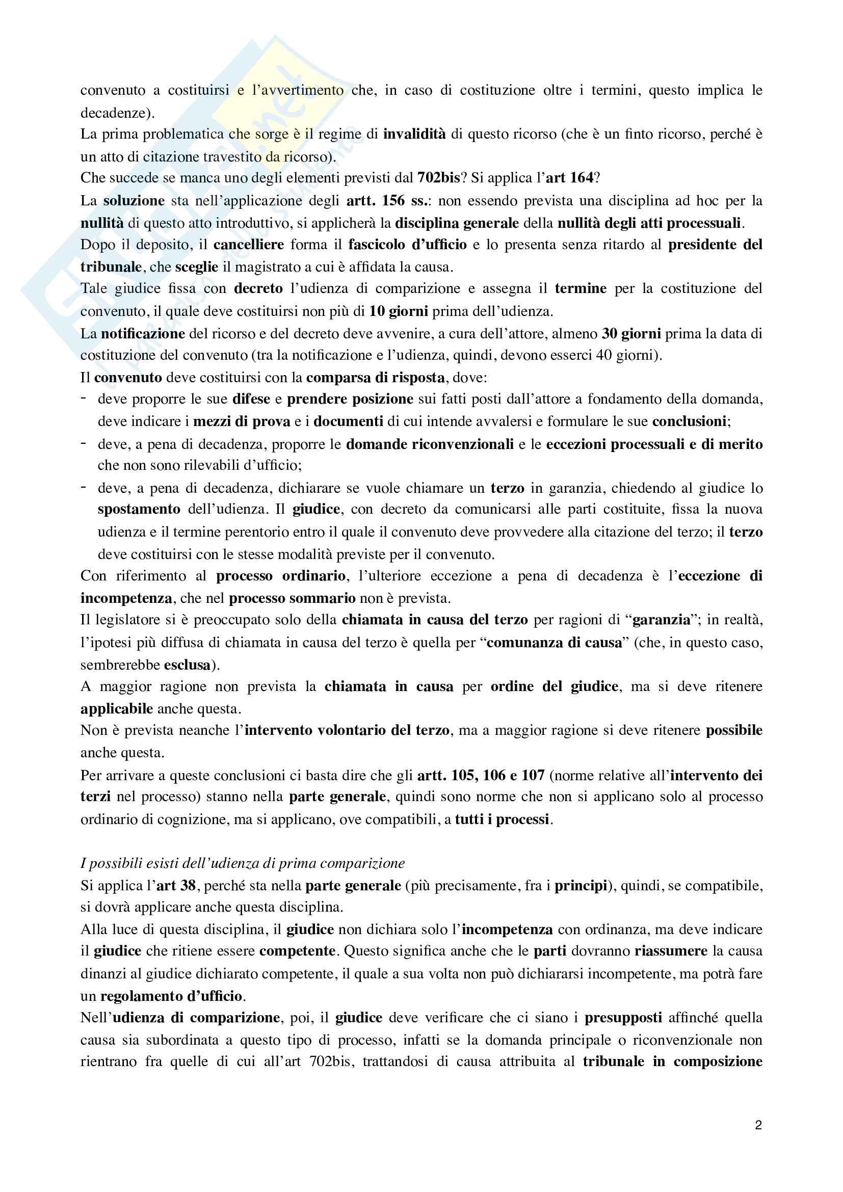 Riassunto esame Dritto processuale civile, prof. Damiani, libro consigliato Istituzioni di diritto processuale civile, vol.3 di Balena Pag. 2