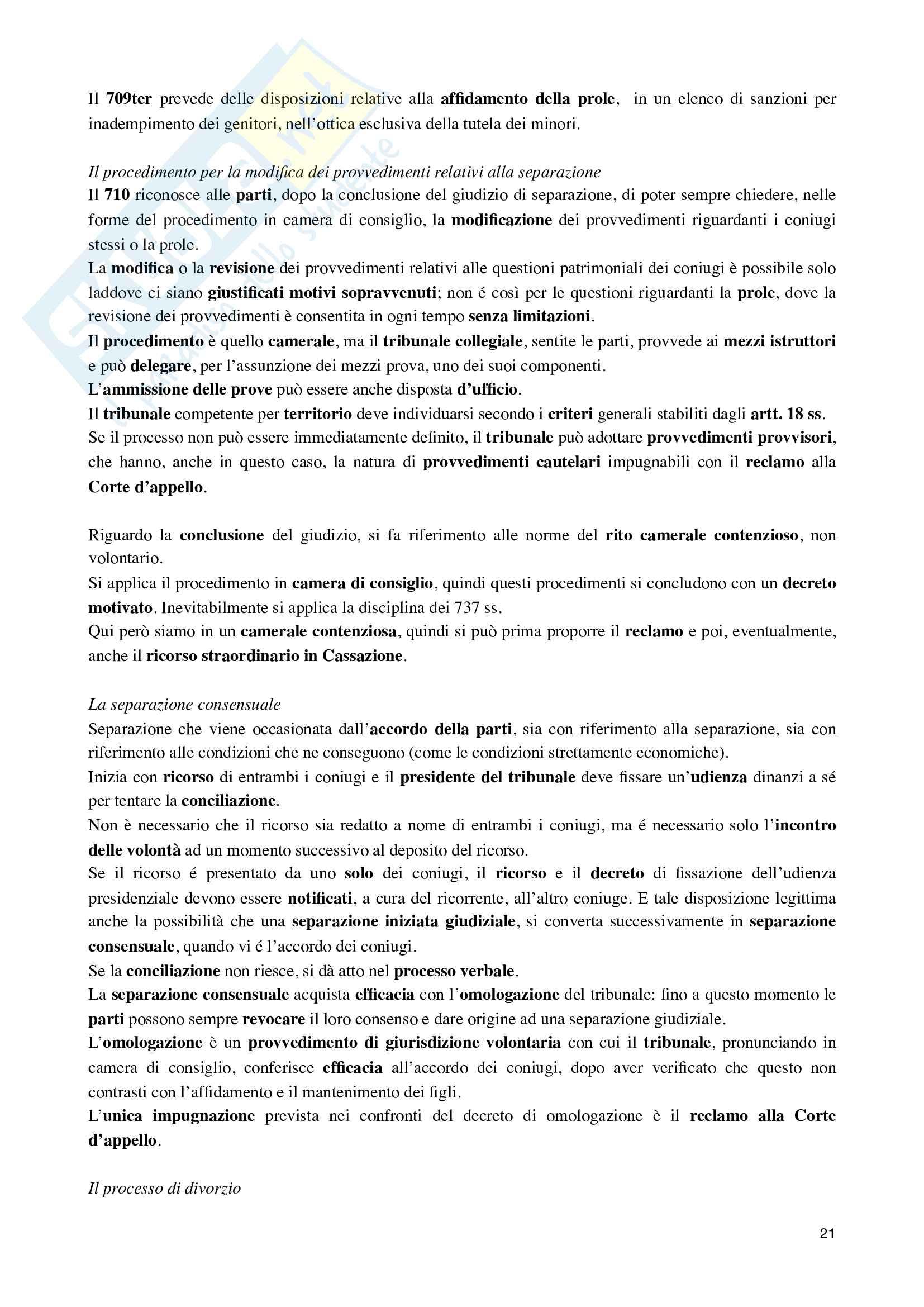 Riassunto esame Dritto processuale civile, prof. Damiani, libro consigliato Istituzioni di diritto processuale civile, vol.3 di Balena Pag. 21