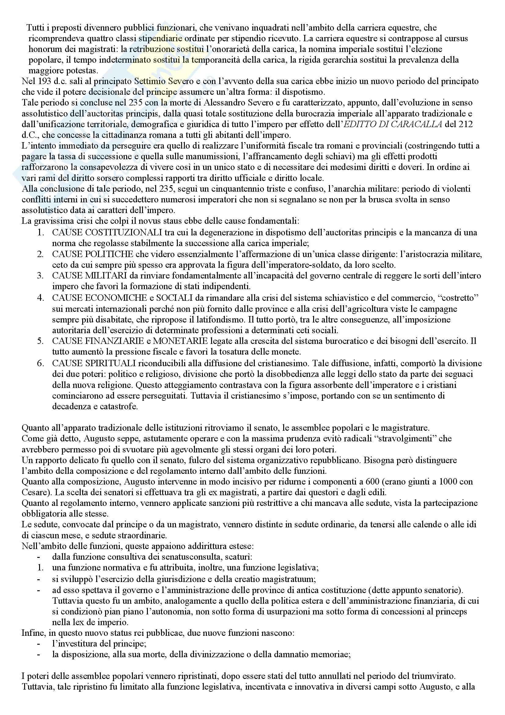 Riassunto esame Diritto Romano, prof. Sanguinetti, libro consigliato Storia del diritto romano, Cerami, Corbino Pag. 11