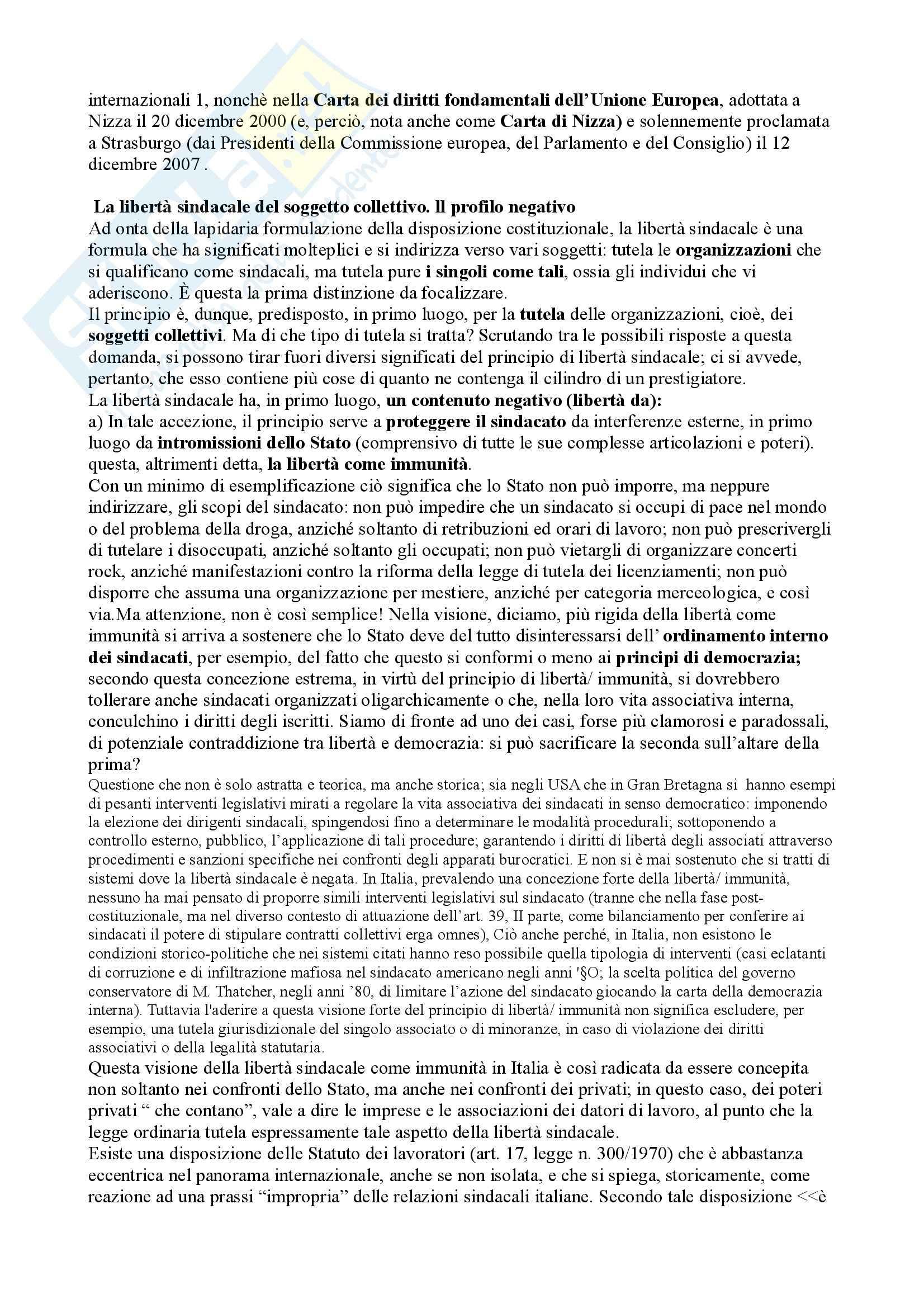 Riassunto esame Diritto del Lavoro, prof. Caruso, libro consigliato Diritto Sindacale Pag. 6