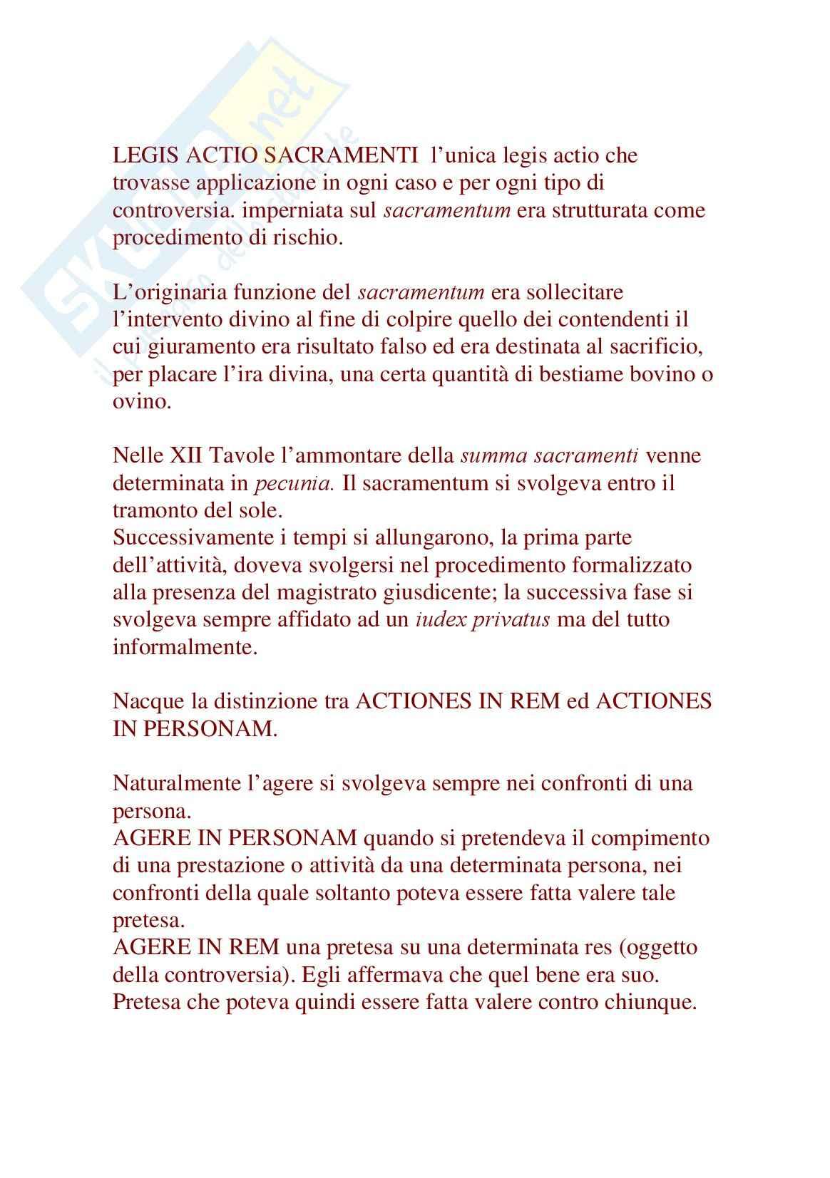 Nuovi profili istituzionali essenziali di diritto romano, Nicosia - Appunti