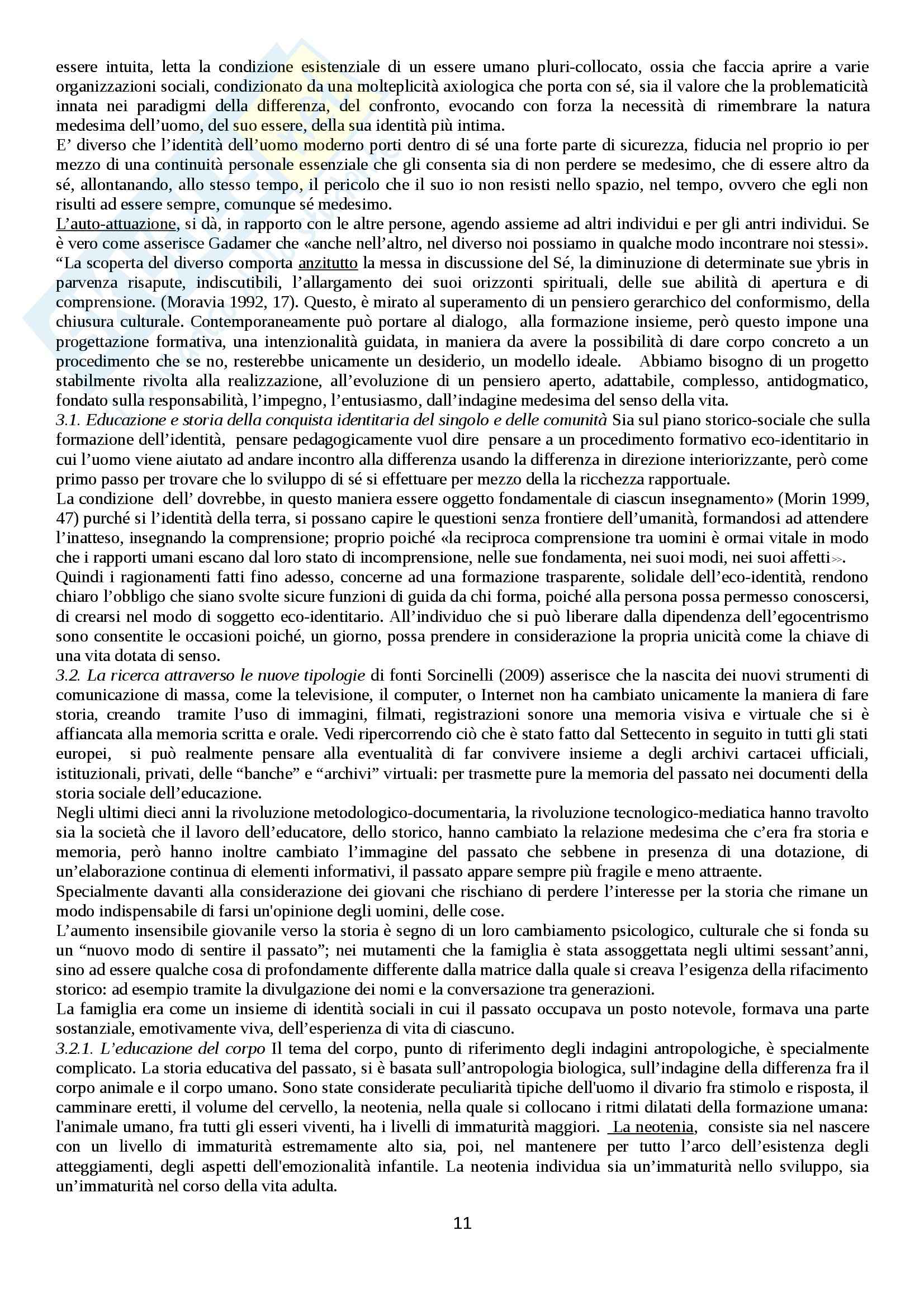 Riassunto esame Storia sociale dell'educazione, prof. Minello Pag. 11
