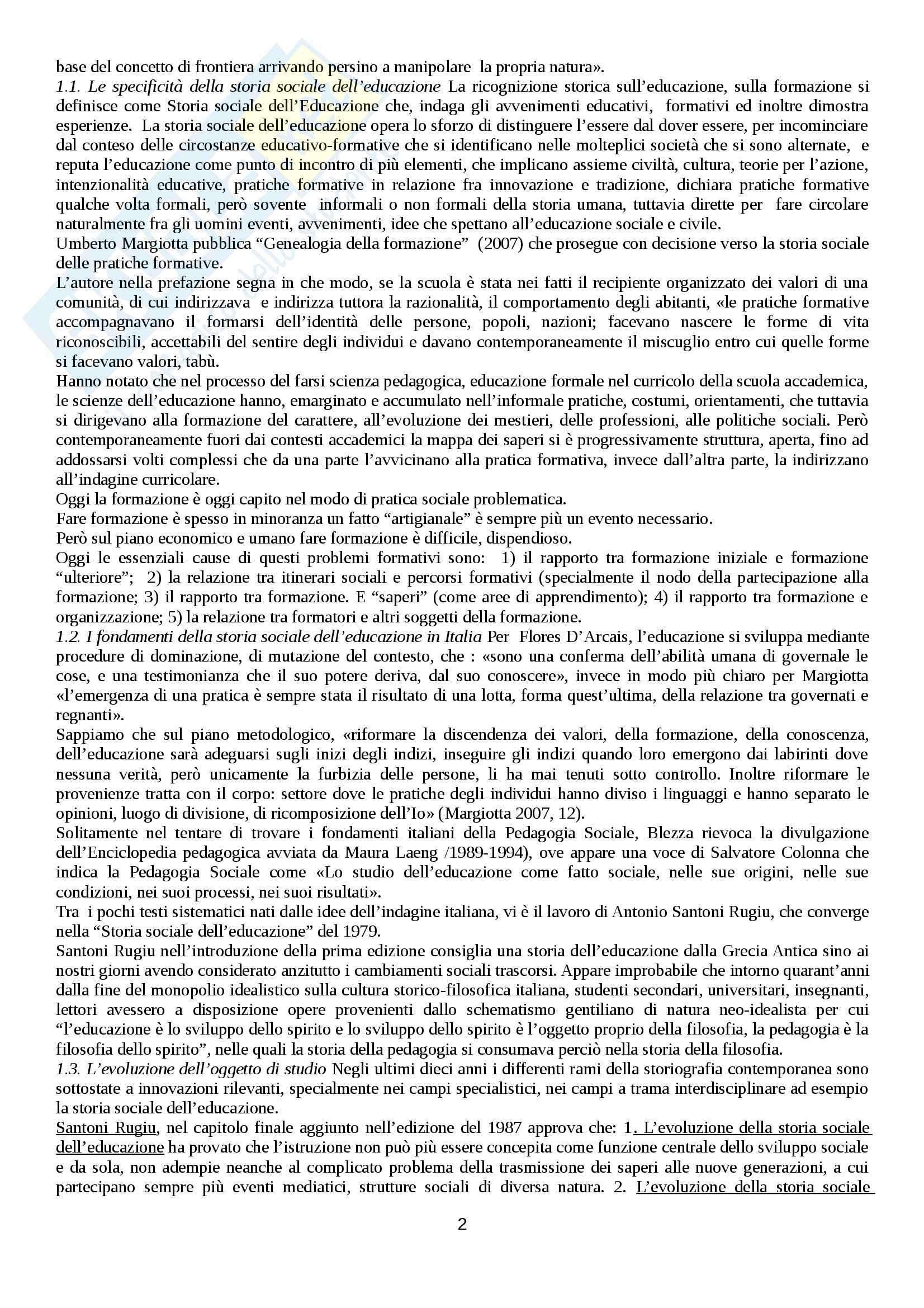 Riassunto esame Storia sociale dell'educazione, prof. Minello Pag. 2
