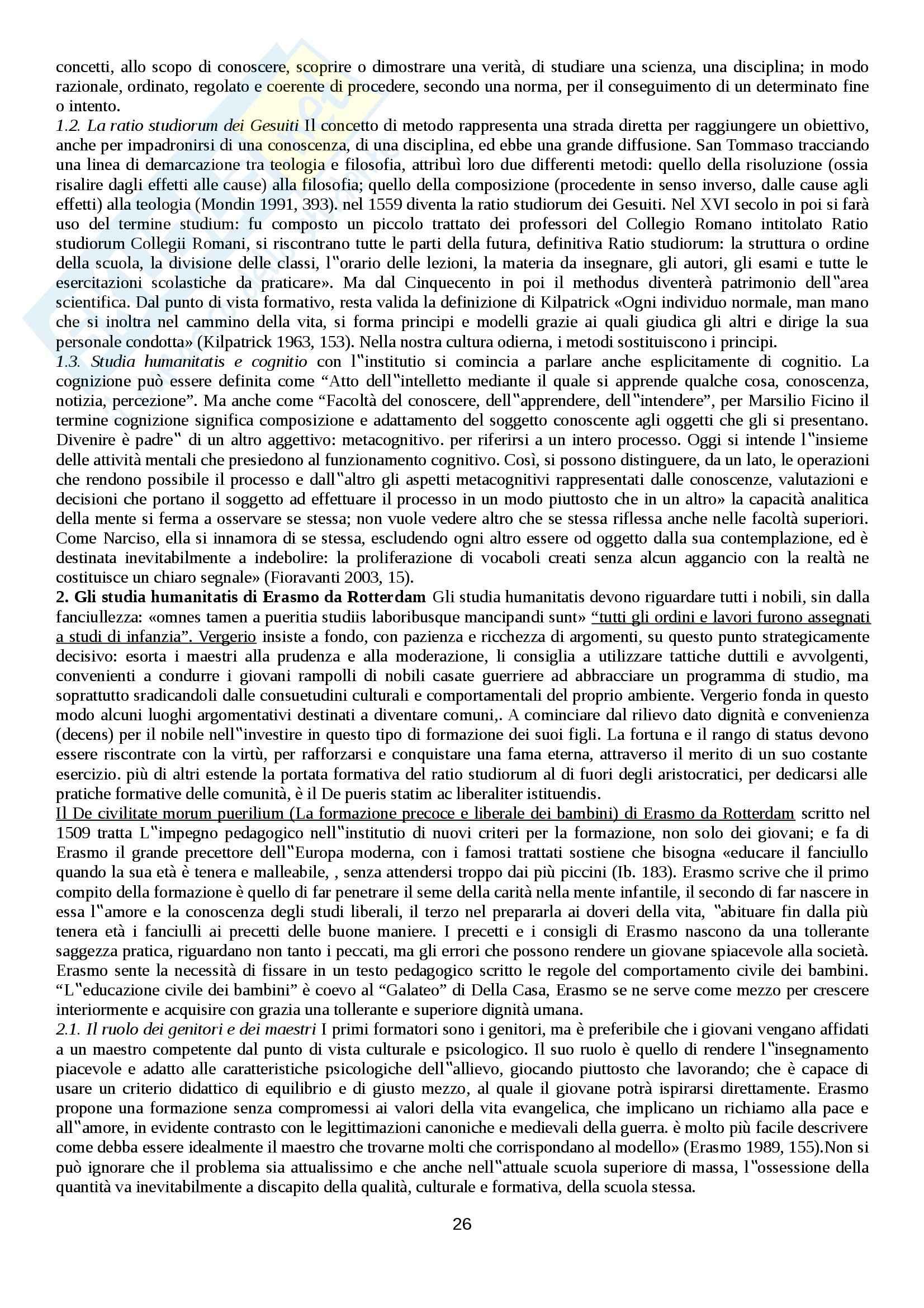 Riassunto esame Storia sociale dell'educazione, prof. Minello Pag. 26