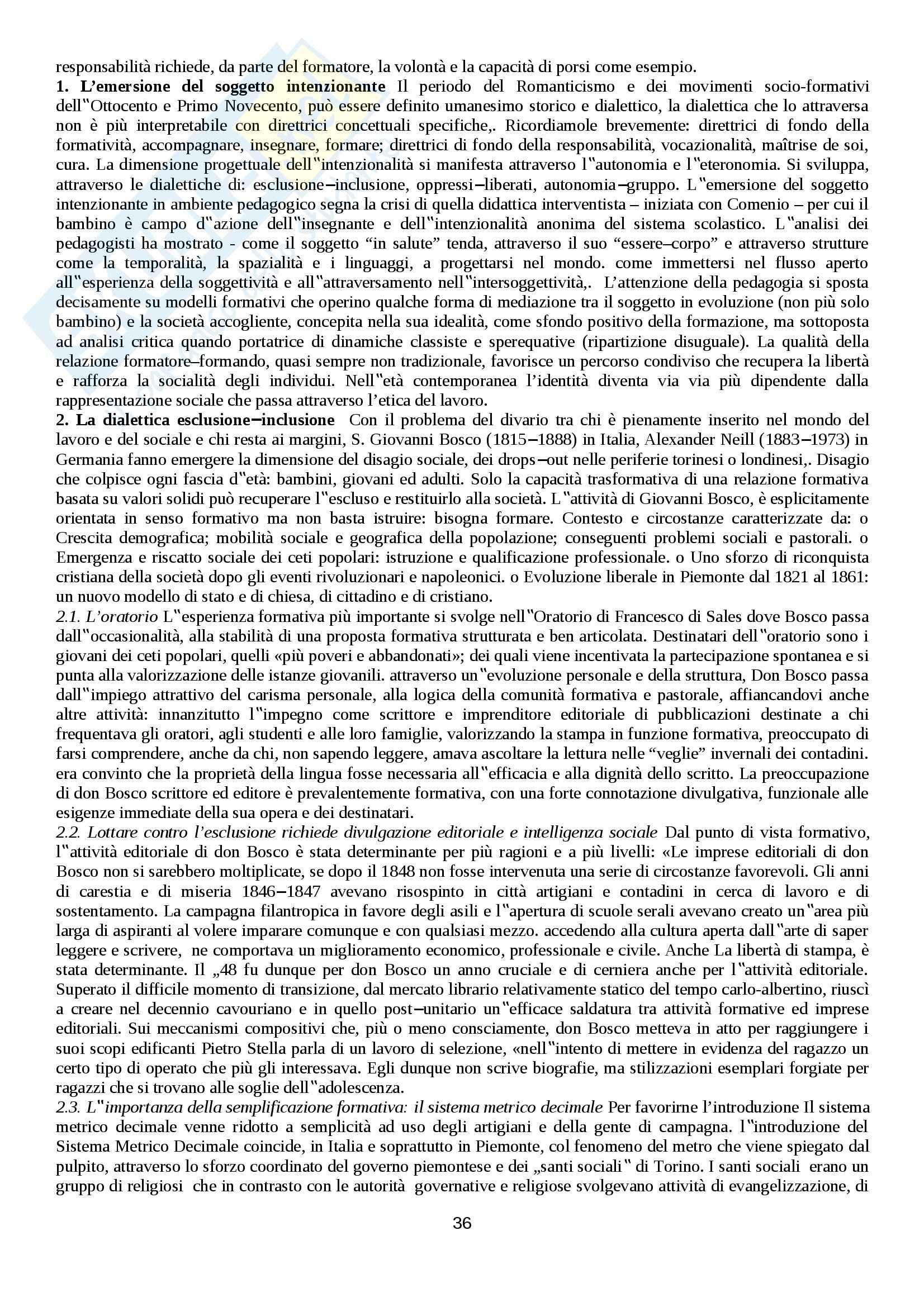 Riassunto esame Storia sociale dell'educazione, prof. Minello Pag. 36