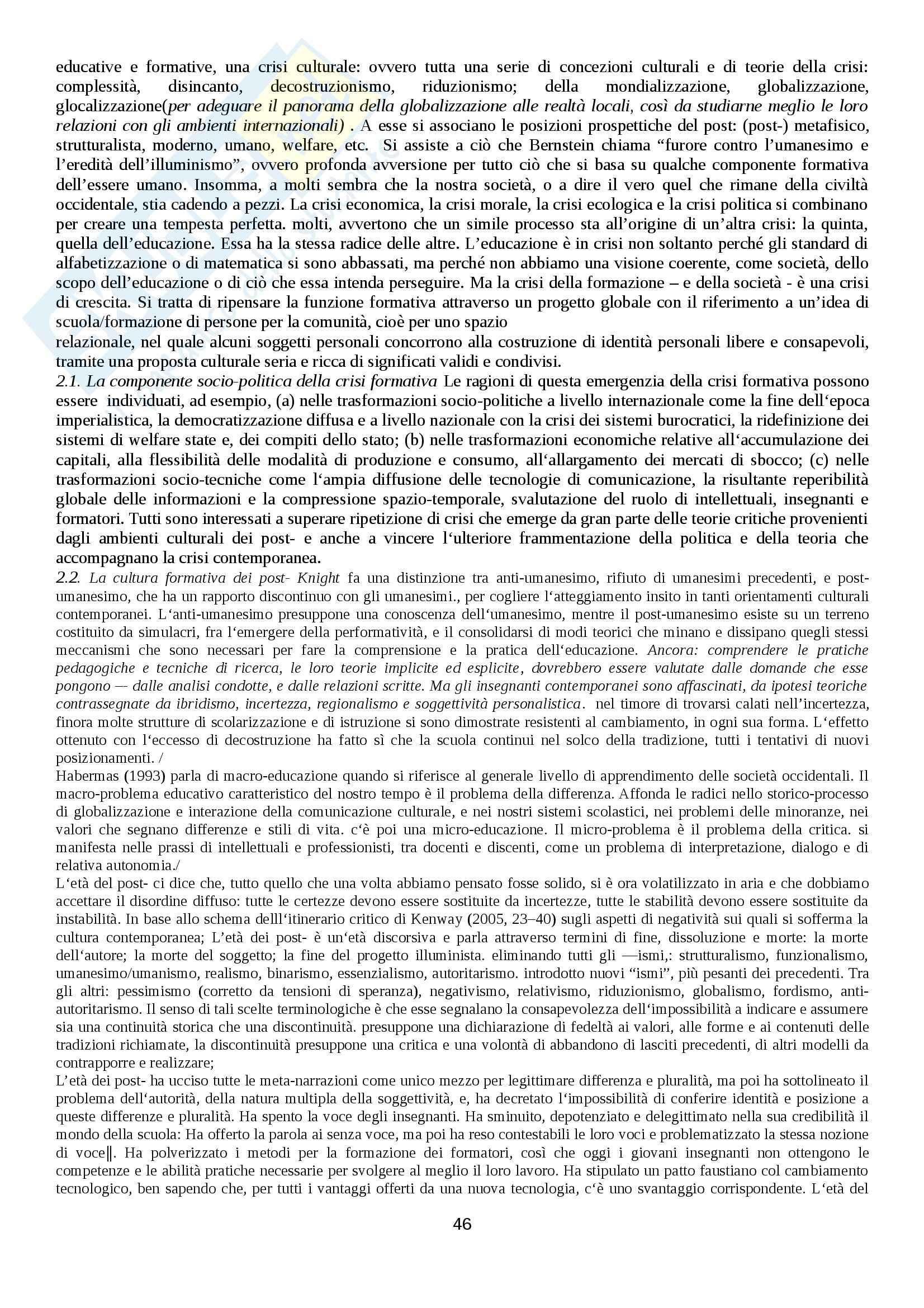 Riassunto esame Storia sociale dell'educazione, prof. Minello Pag. 46