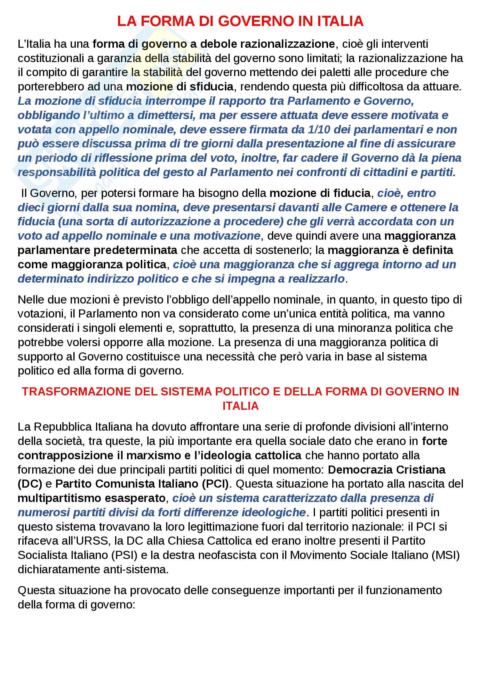 Sistema di governo in Italia