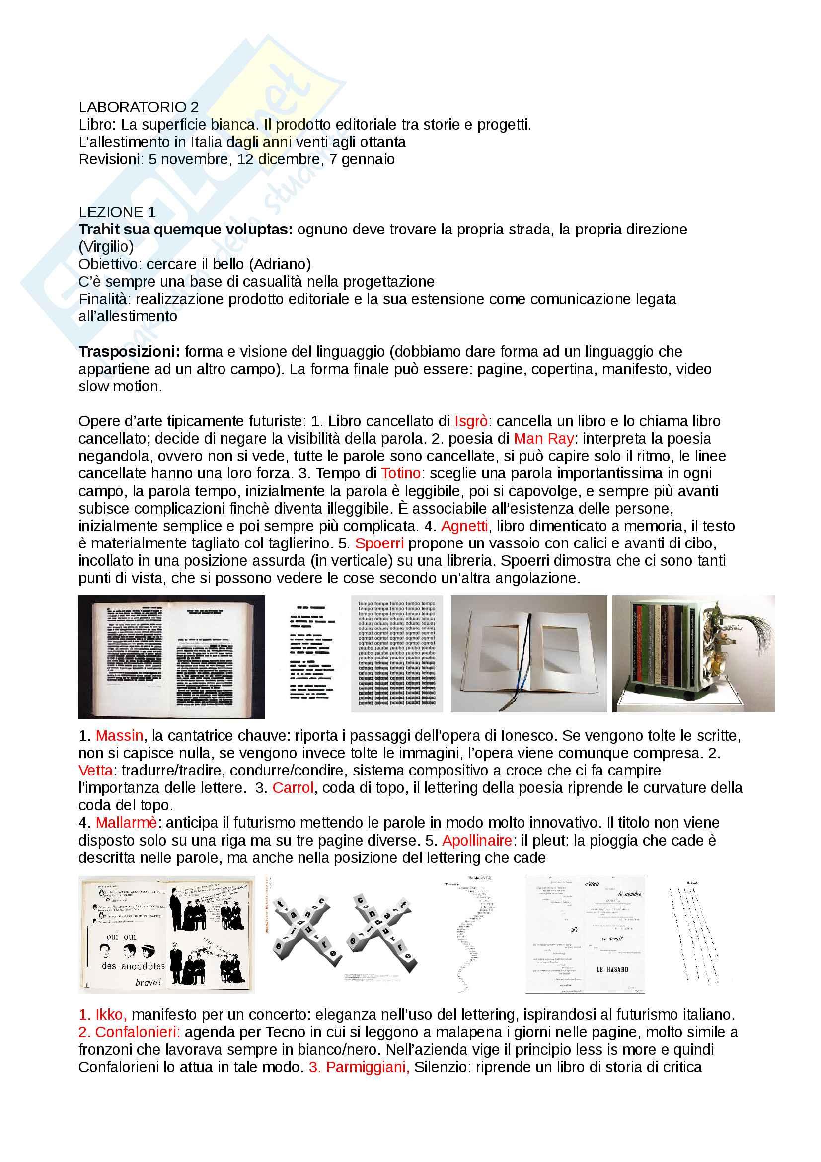 Appunti di laboratorio progettuale grafico-pubblicitario
