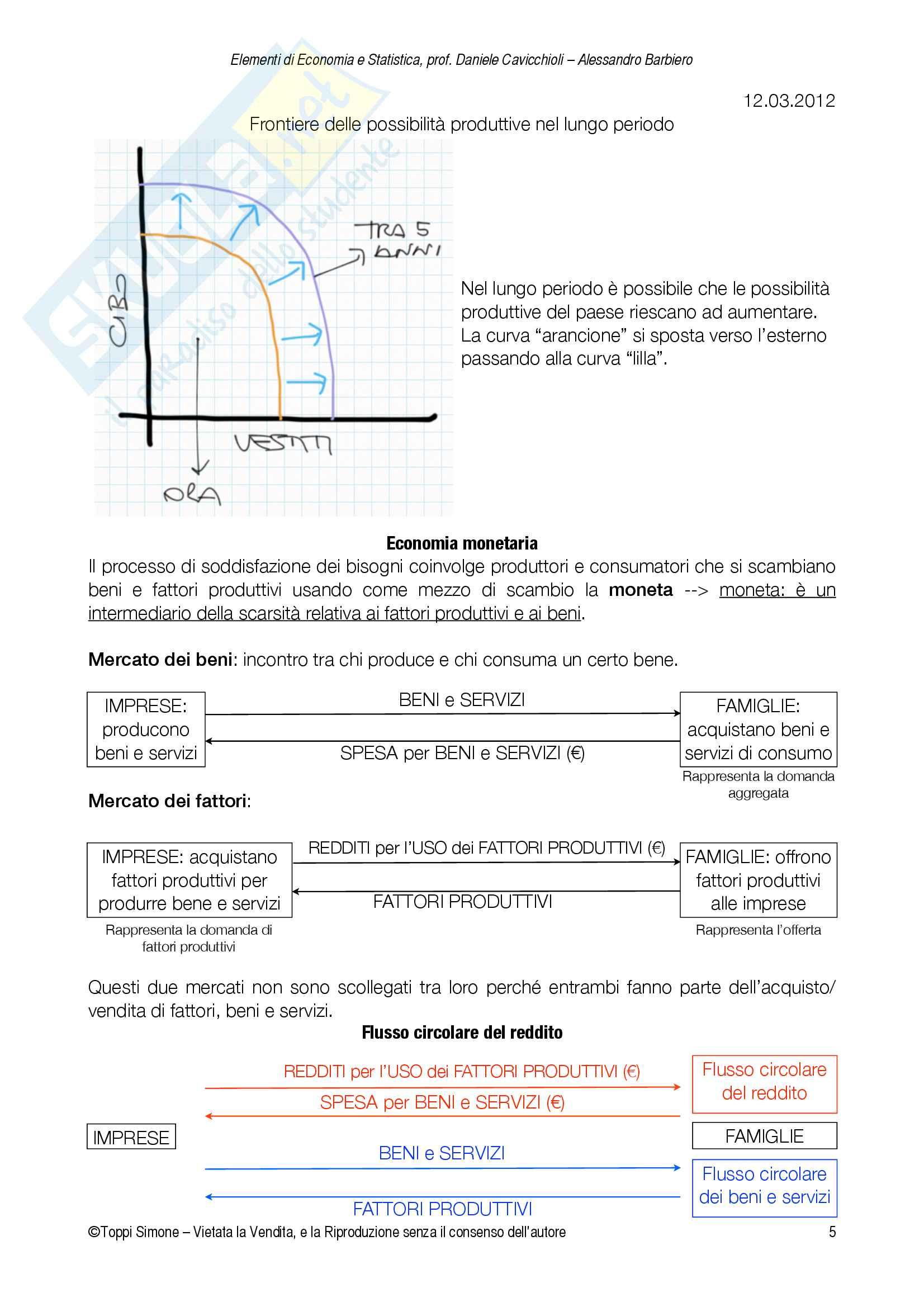 Appunti Economia e Statistica Pag. 6