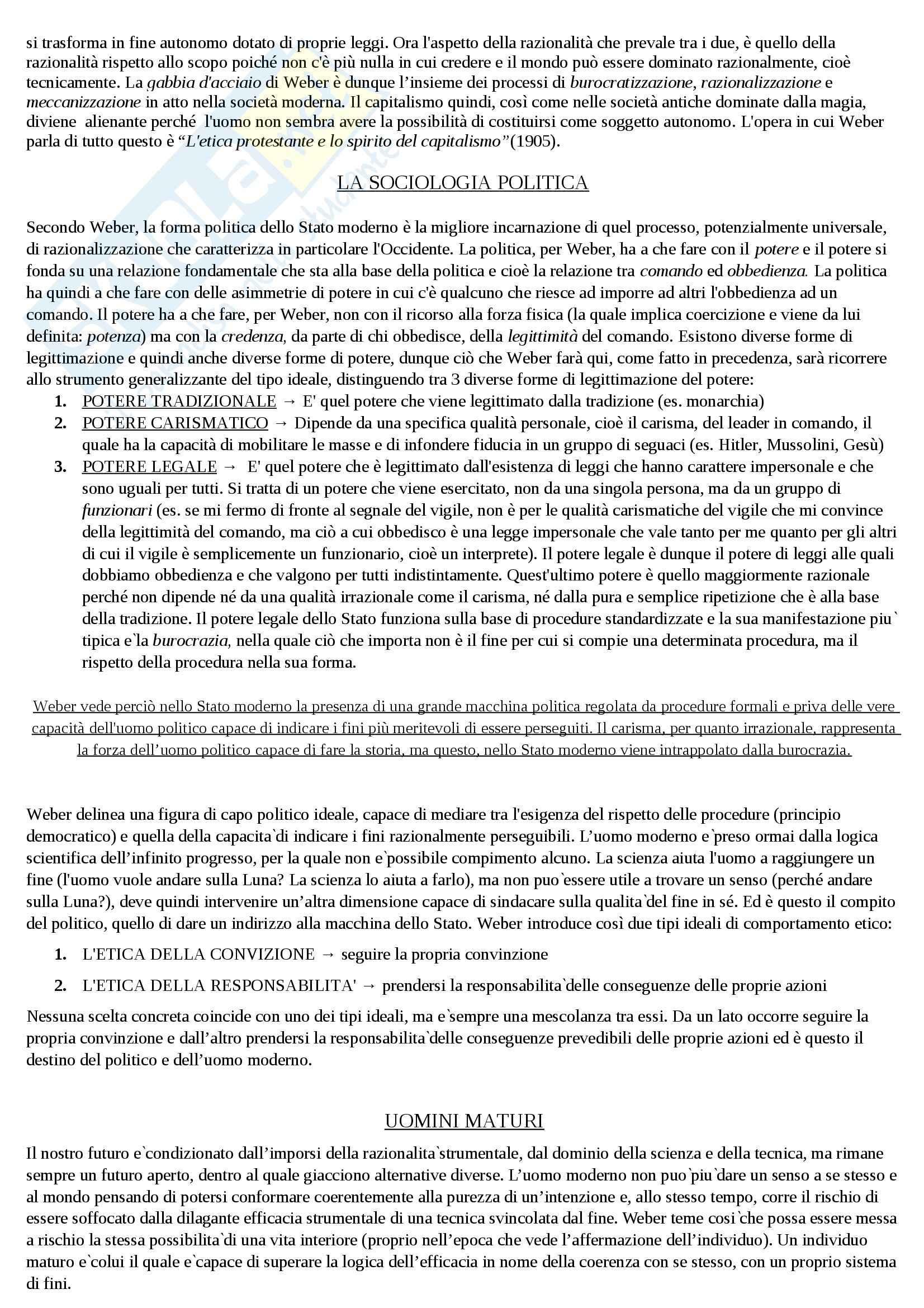 Riassunto esame Sociologia, prof. Hassan, libro consigliato Introduzione alla sociologia, Santambrogio Pag. 21