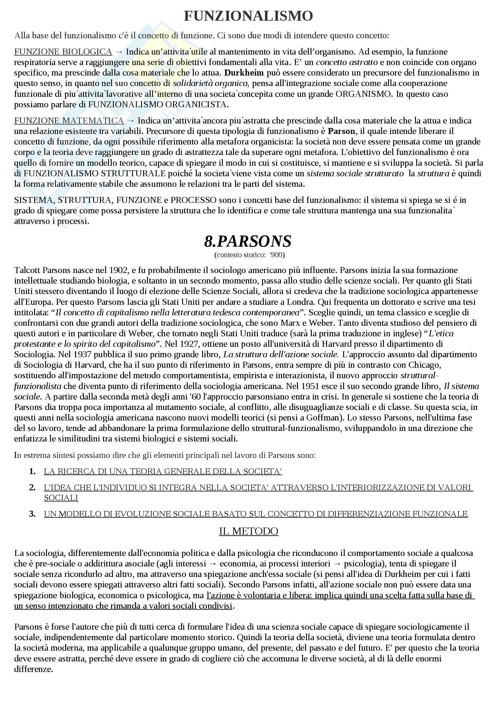 Riassunto esame Sociologia, prof. Hassan, libro consigliato Introduzione alla sociologia, Santambrogio Pag. 31