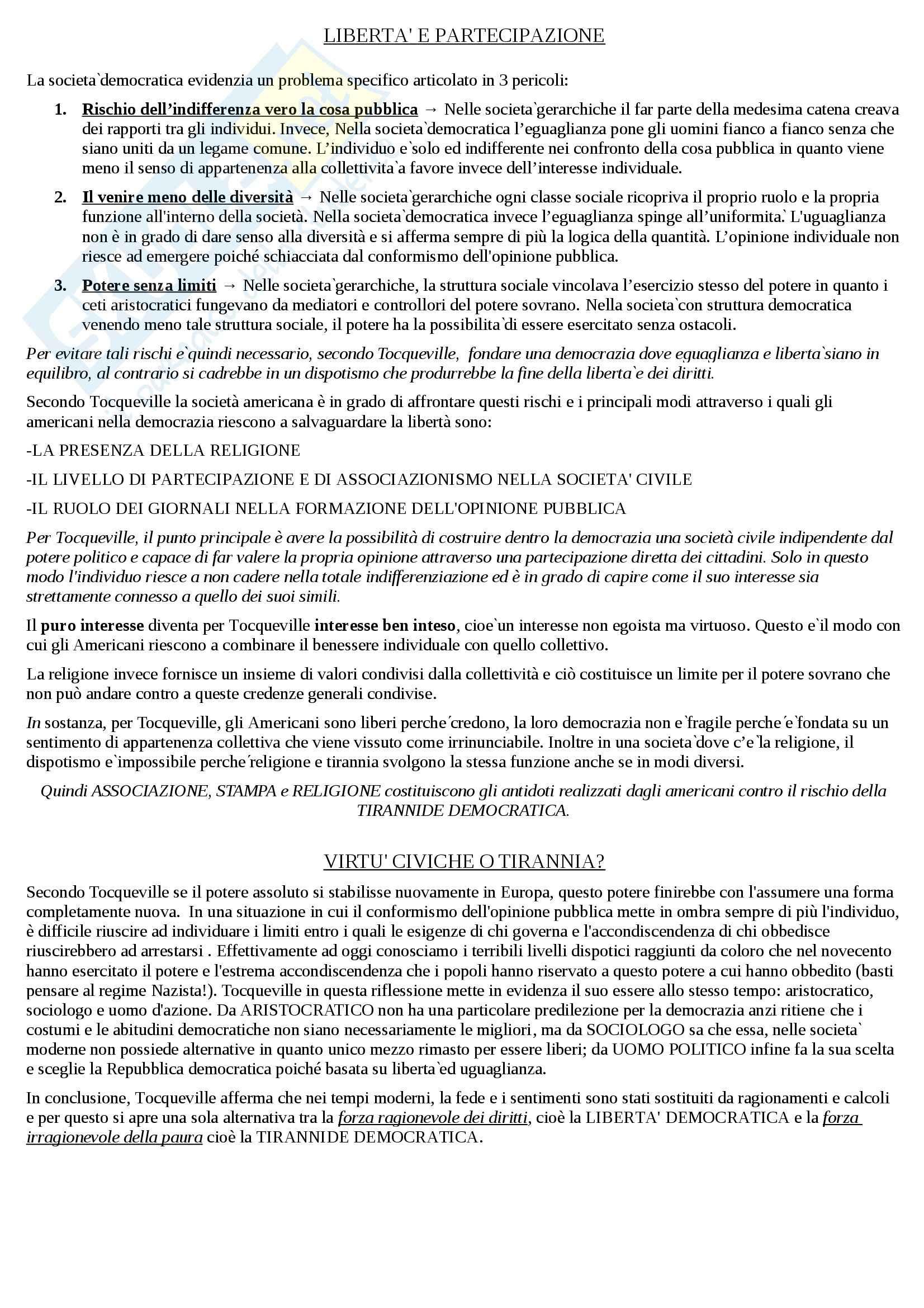 Riassunto esame Sociologia, prof. Hassan, libro consigliato Introduzione alla sociologia, Santambrogio Pag. 6